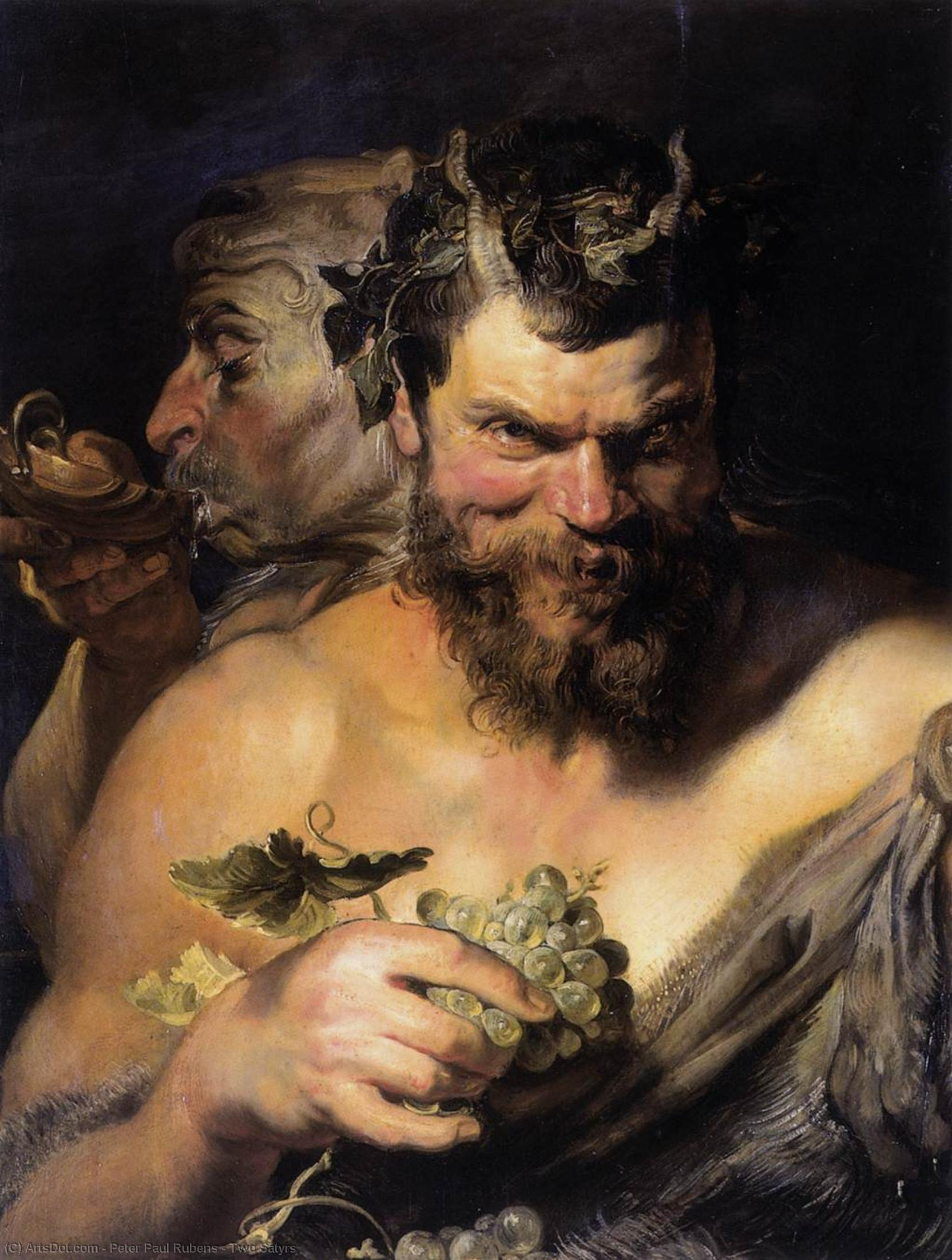 Wikioo.org - The Encyclopedia of Fine Arts - Painting, Artwork by Peter Paul Rubens - Two Satyrs