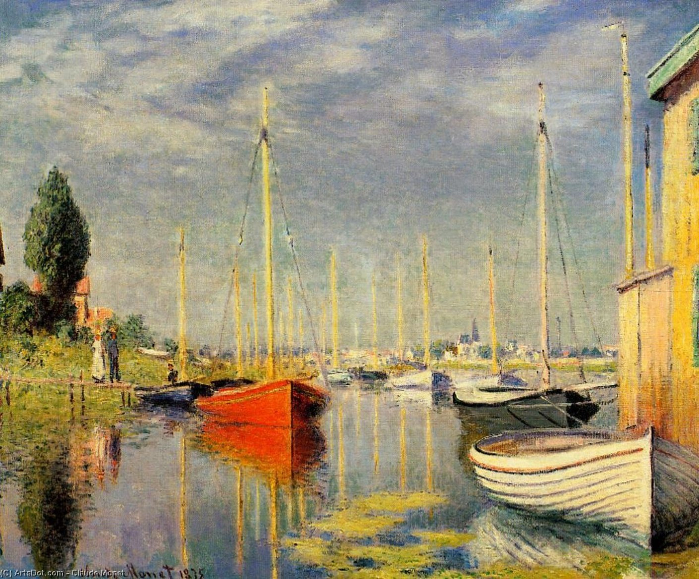 Wikioo.org - The Encyclopedia of Fine Arts - Painting, Artwork by Claude Monet - Yachts at Argenteuil