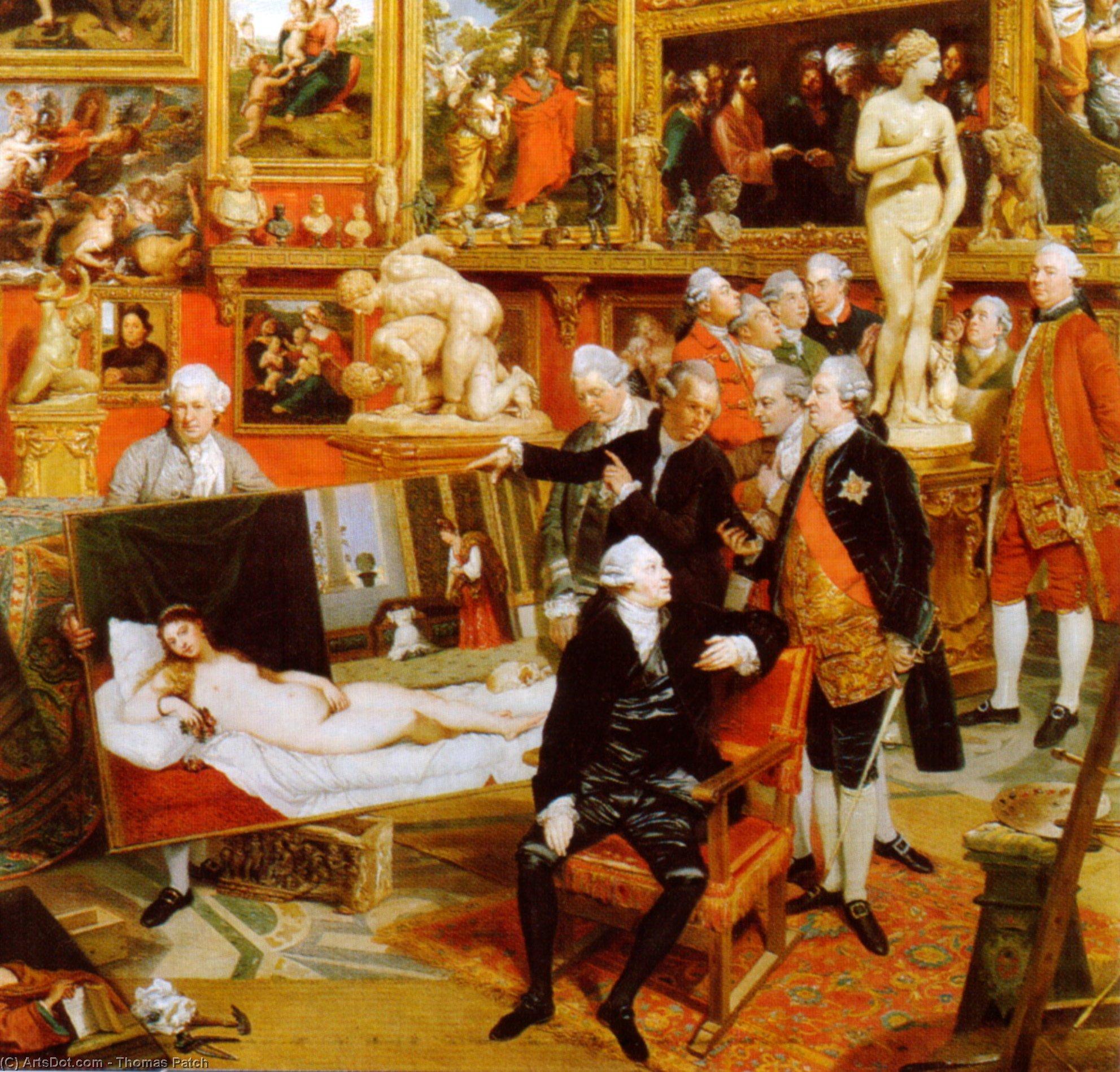 Wikioo.org - The Encyclopedia of Fine Arts - Painting, Artwork by Thomas Patch - La Tribuna Of The Uffizi