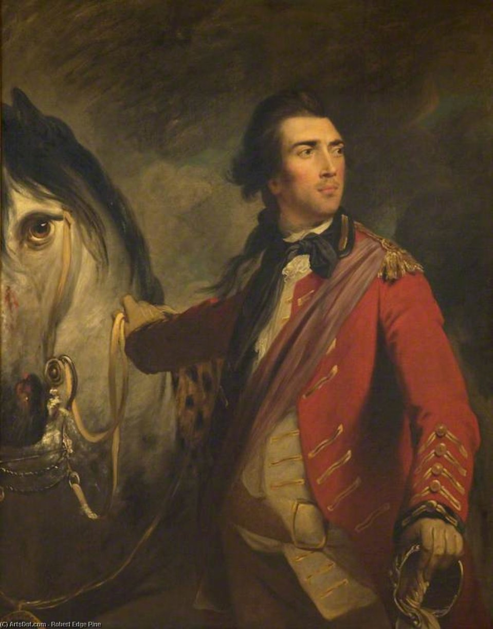 Wikioo.org - The Encyclopedia of Fine Arts - Painting, Artwork by Robert Edge Pine - Colonel John Graham Of Kippen, Third Son Of Nicol Graham Of Gartmore