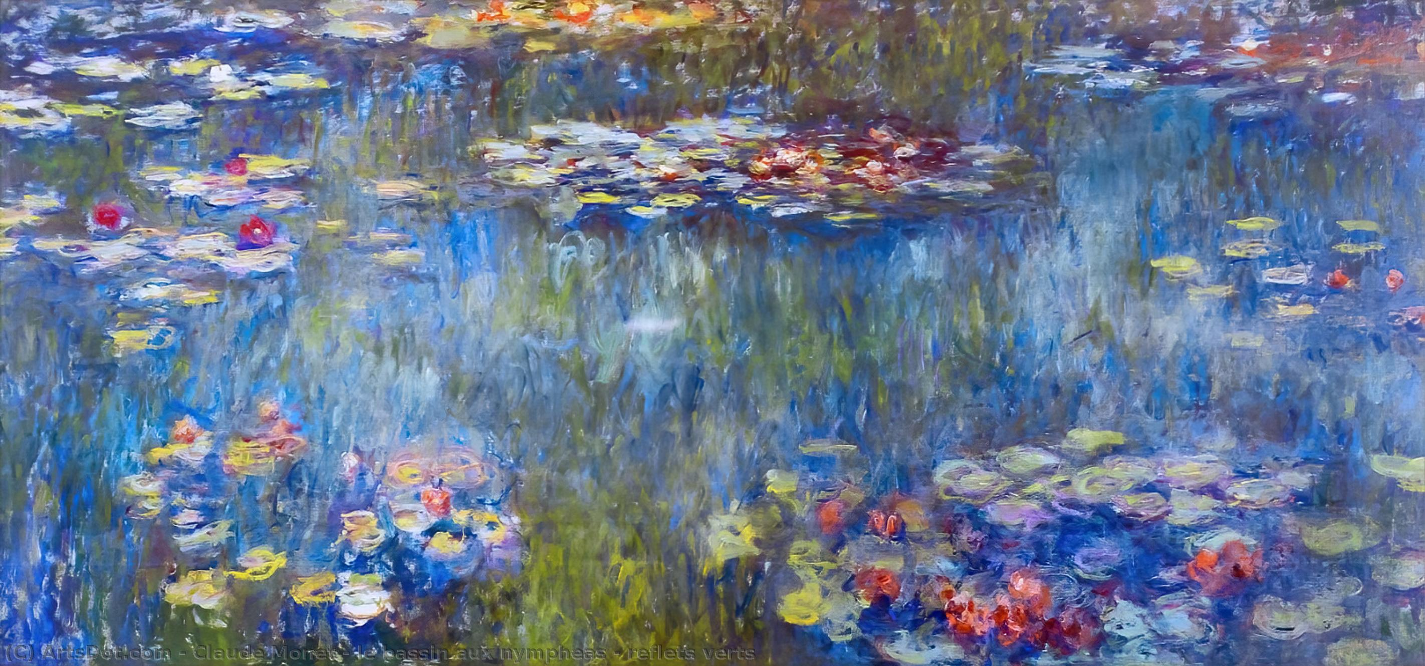 Wikioo.org - The Encyclopedia of Fine Arts - Painting, Artwork by Claude Monet - le bassin aux nympheas - reflets verts