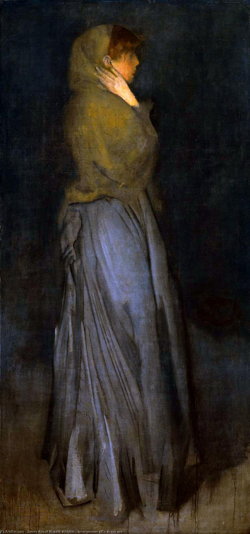 Wikioo.org - The Encyclopedia of Fine Arts - Painting, Artwork by James Abbott Mcneill Whistler - arrangement effie deans sun