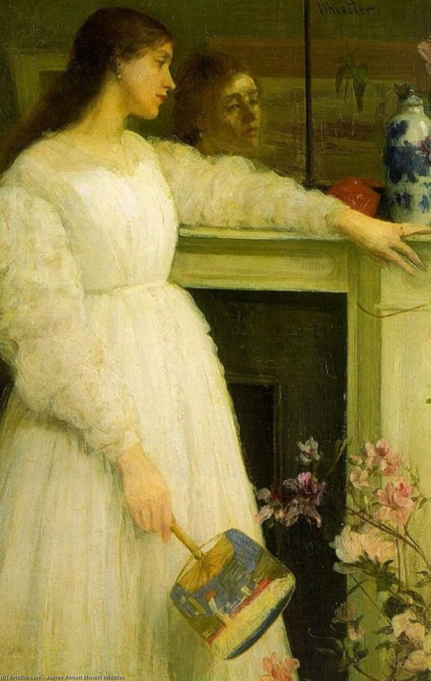 Wikioo.org - The Encyclopedia of Fine Arts - Painting, Artwork by James Abbott Mcneill Whistler - Symphony in White no 2 The Little White Girl