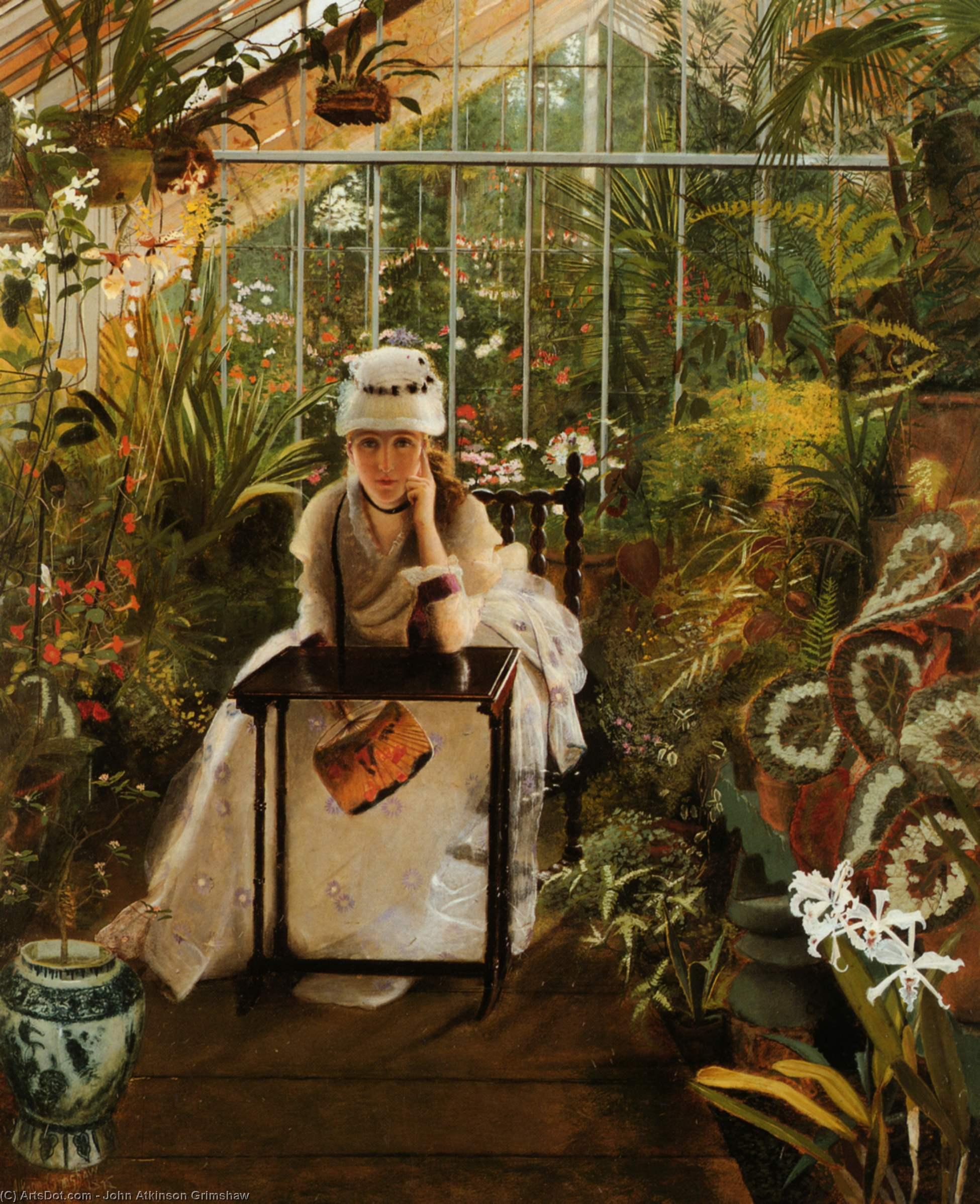 Wikioo.org - The Encyclopedia of Fine Arts - Painting, Artwork by John Atkinson Grimshaw - il pensoroso