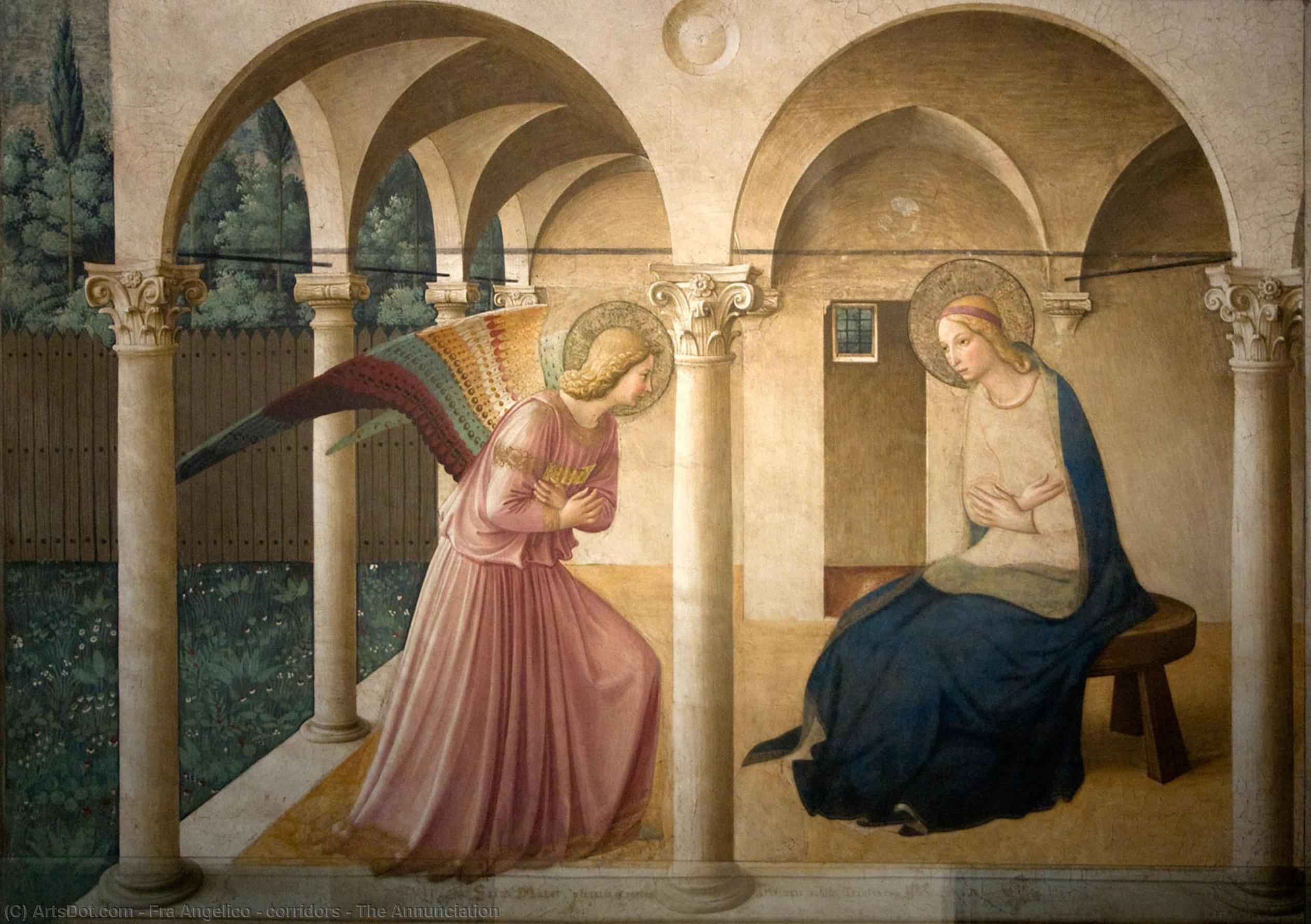 Wikioo.org - The Encyclopedia of Fine Arts - Painting, Artwork by Fra Angelico - corridors - The Annunciation