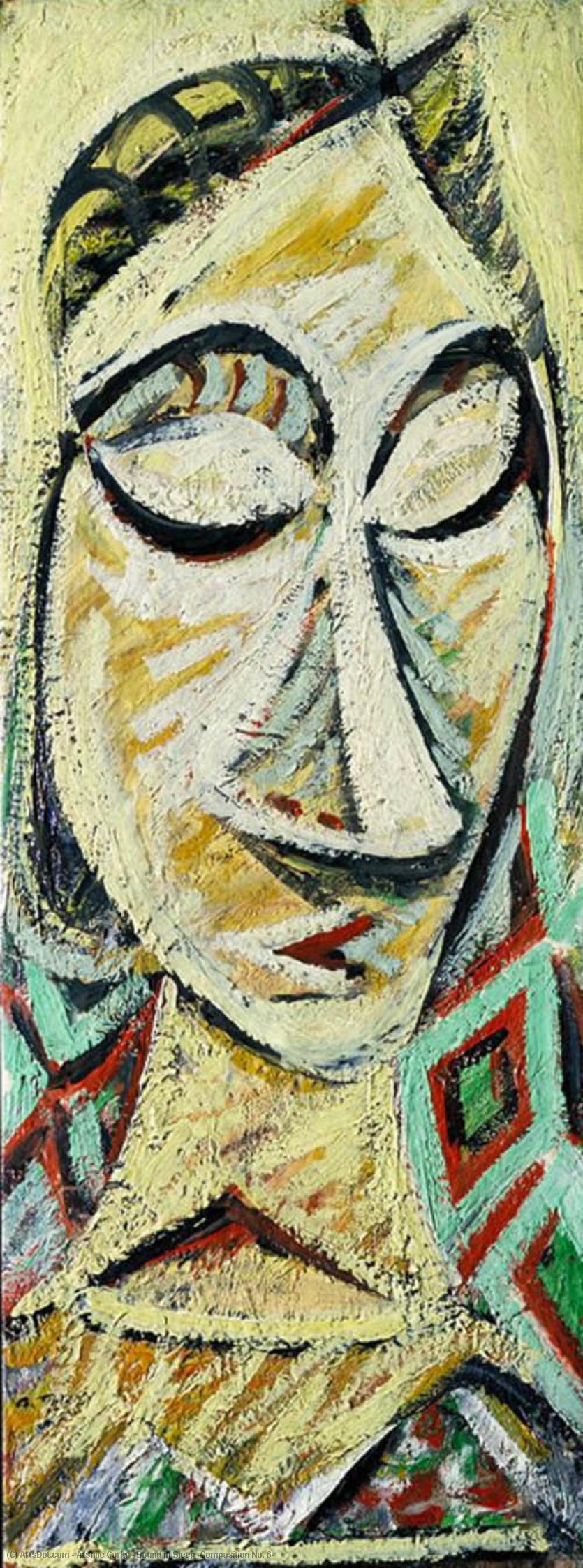 Wikioo.org - The Encyclopedia of Fine Arts - Painting, Artwork by Arshile Gorky - Bound in Sleep (Composition No. 6)