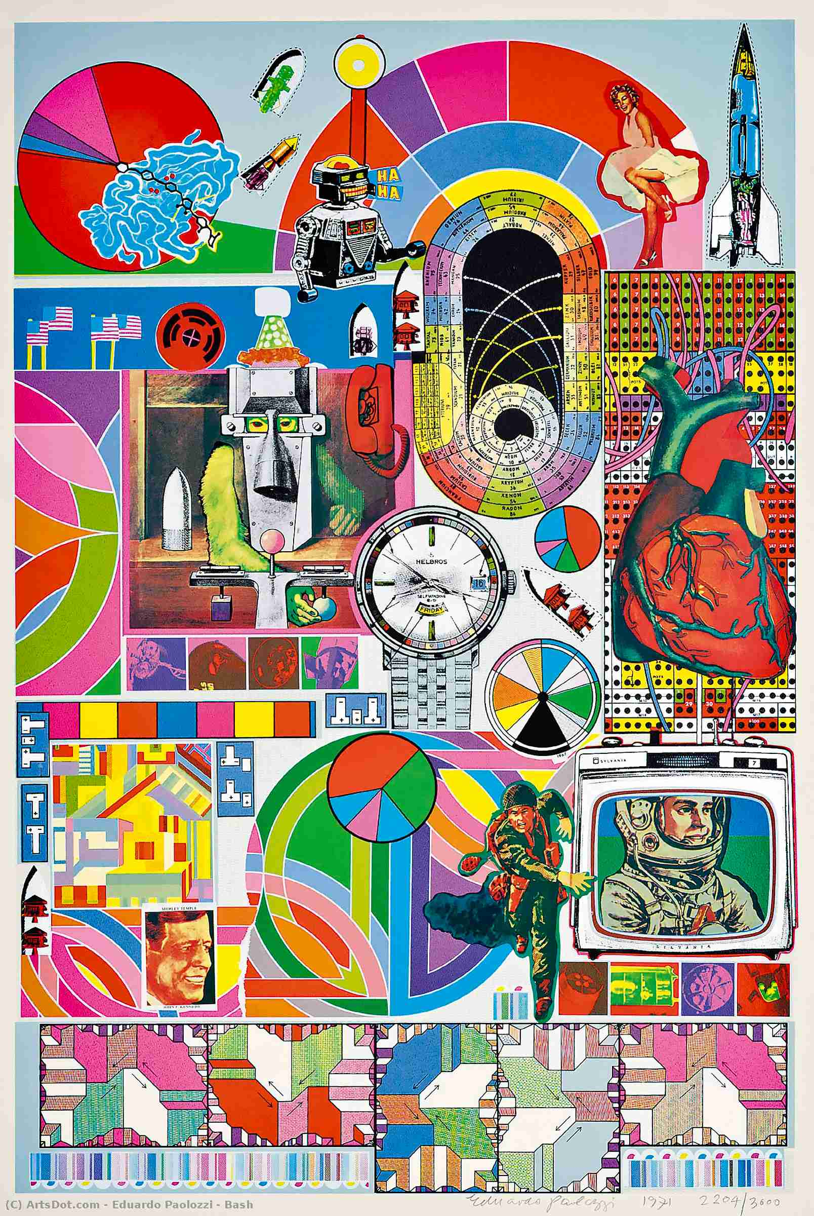 Wikioo.org - The Encyclopedia of Fine Arts - Painting, Artwork by Eduardo Paolozzi - Bash