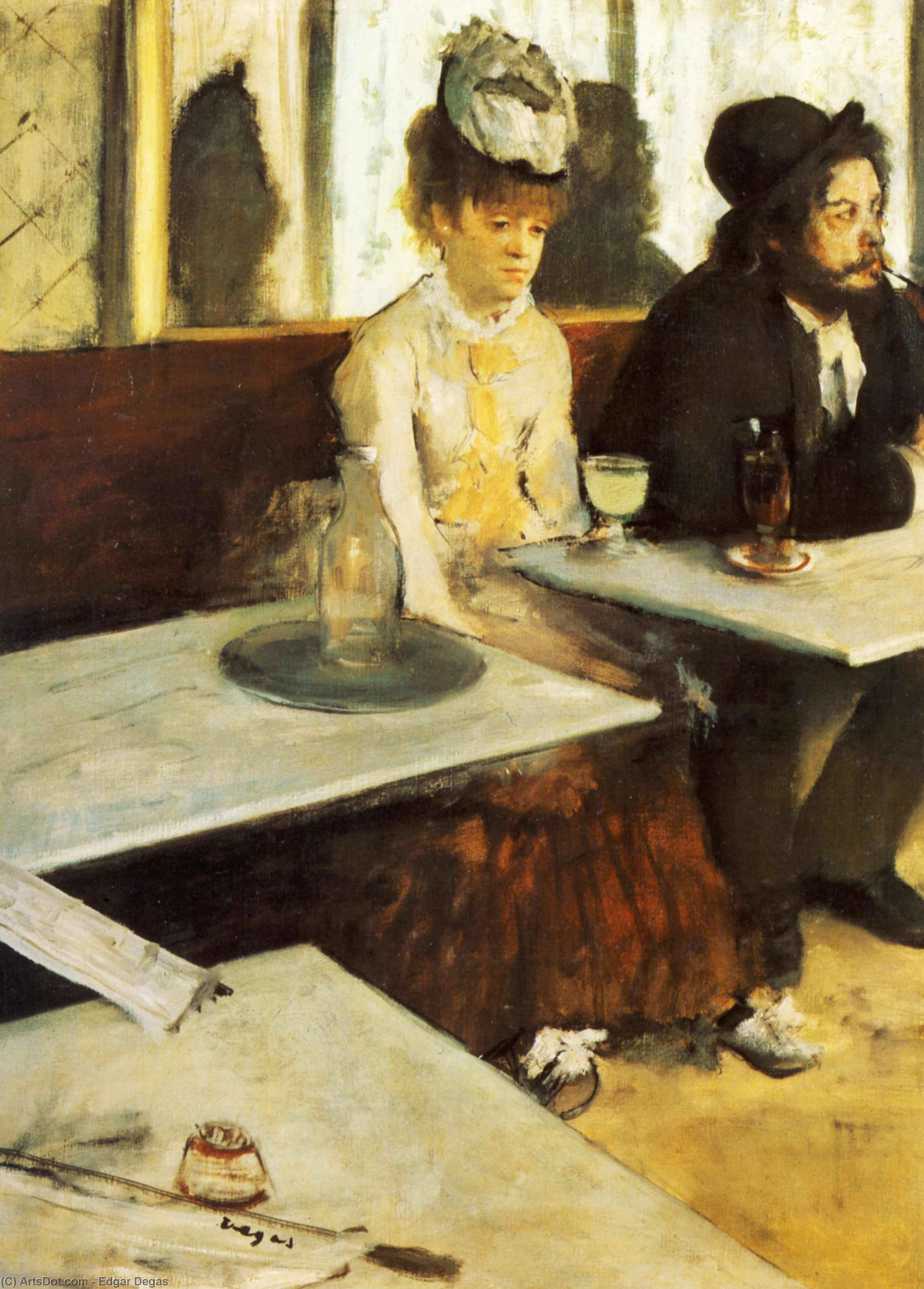 Wikioo.org - The Encyclopedia of Fine Arts - Painting, Artwork by Edgar Degas - The Absinthe Drinker