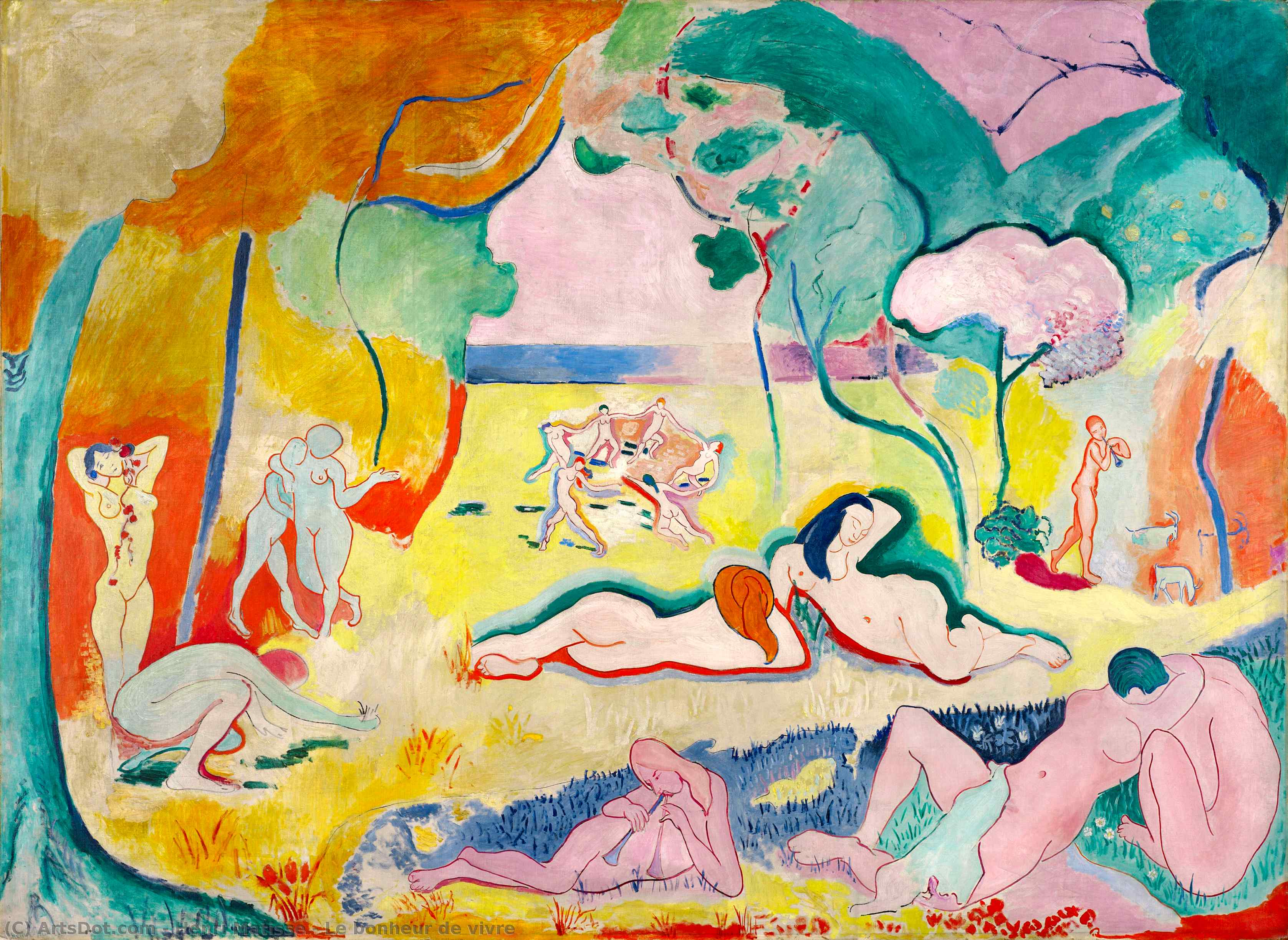 Wikioo.org - The Encyclopedia of Fine Arts - Painting, Artwork by Henri Matisse - Le bonheur de vivre