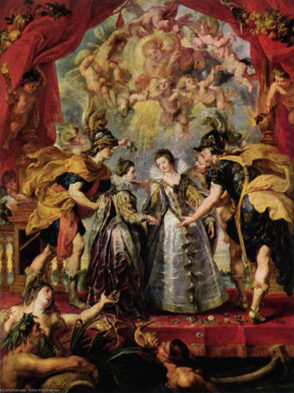 WikiOO.org - Encyclopedia of Fine Arts - Maleri, Artwork Peter Paul Rubens - The Exchange of Princesses