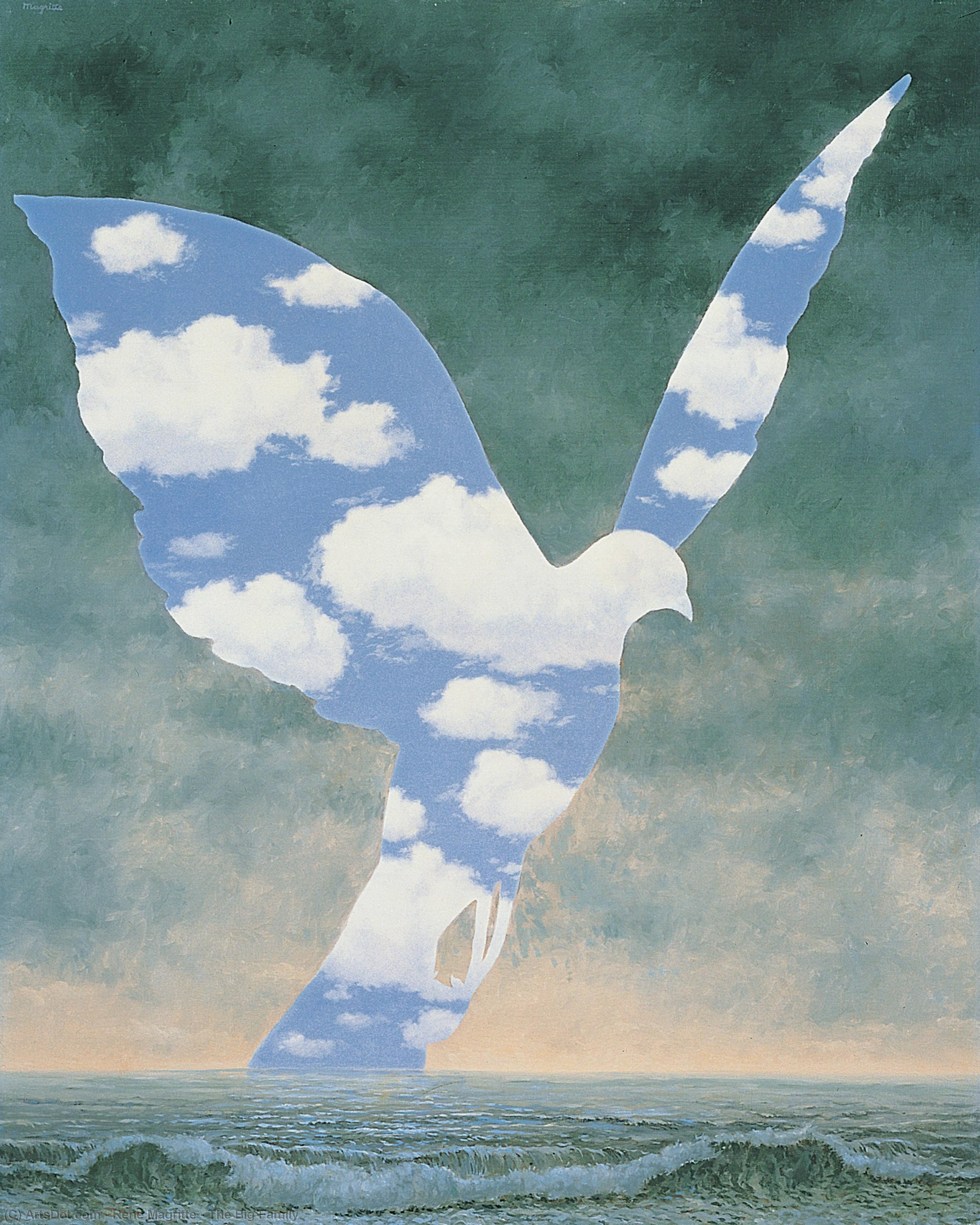 Wikioo.org - The Encyclopedia of Fine Arts - Painting, Artwork by Rene Magritte - The Big Family