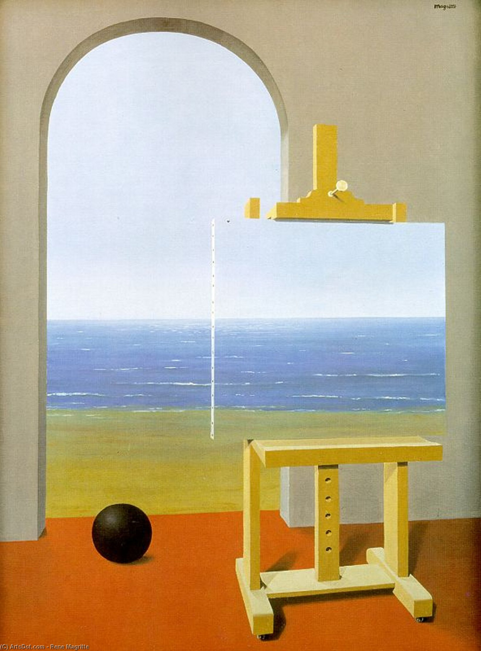 Wikioo.org - The Encyclopedia of Fine Arts - Painting, Artwork by Rene Magritte - The Human Condition