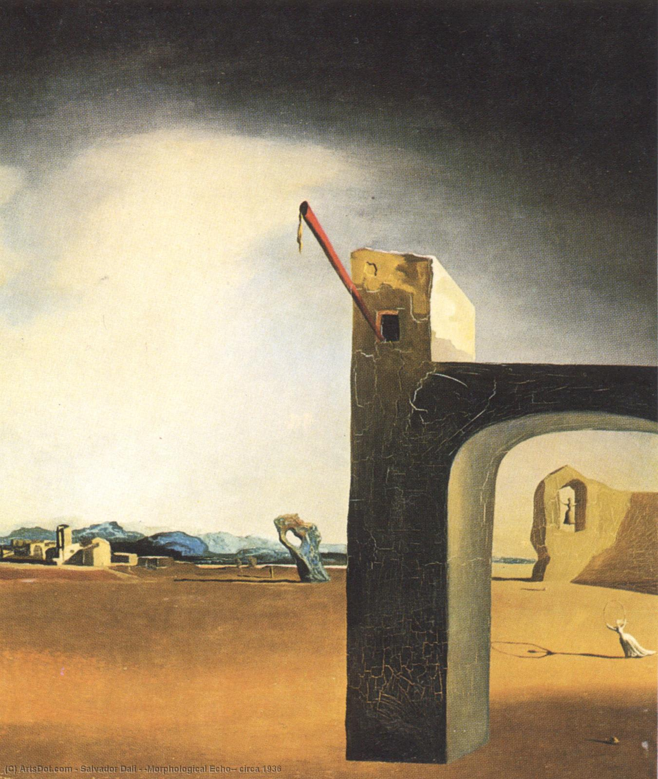 Wikioo.org - The Encyclopedia of Fine Arts - Painting, Artwork by Salvador Dali - 'Morphological Echo', circa 1936