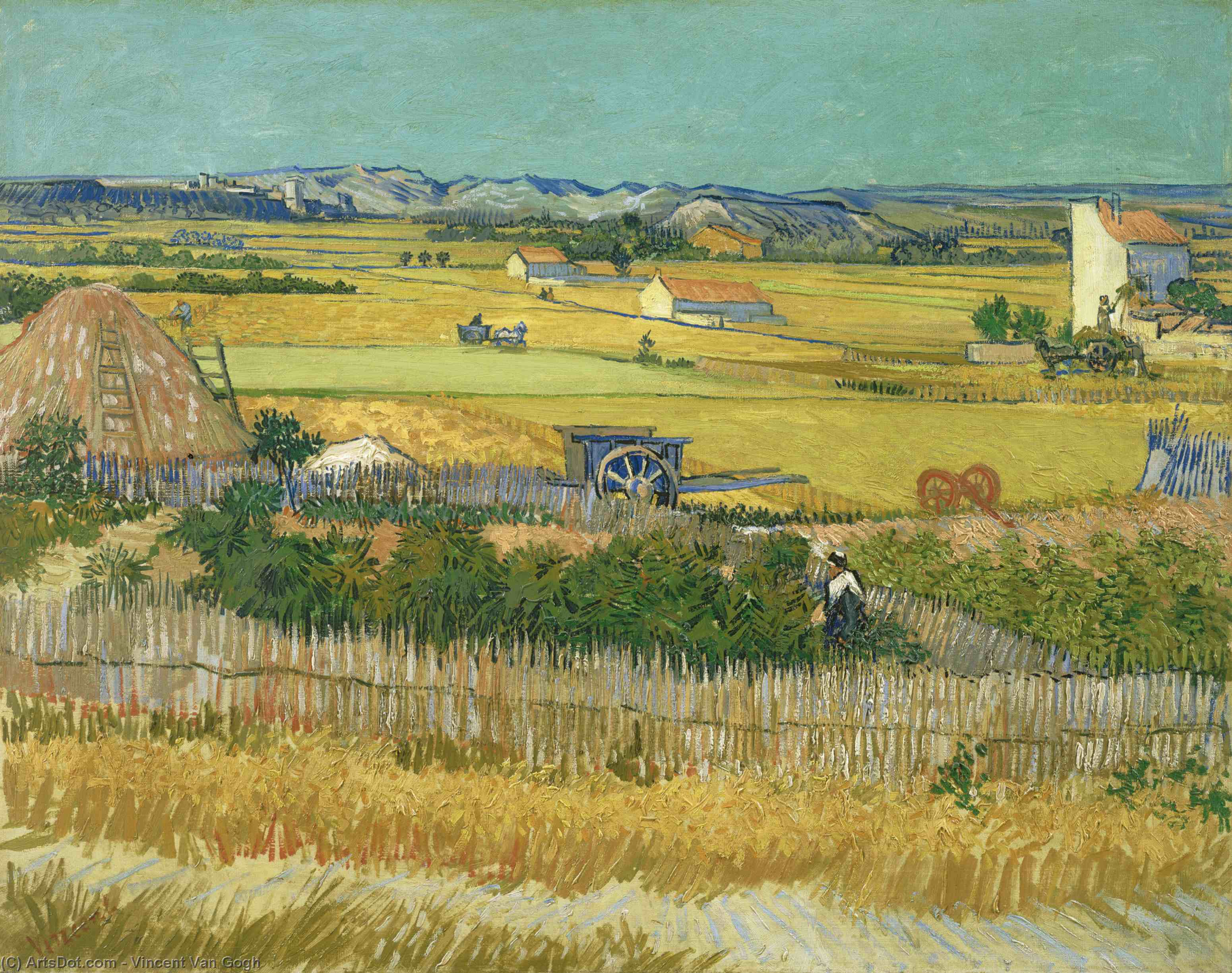 Wikioo.org - The Encyclopedia of Fine Arts - Painting, Artwork by Vincent Van Gogh - The Harvest
