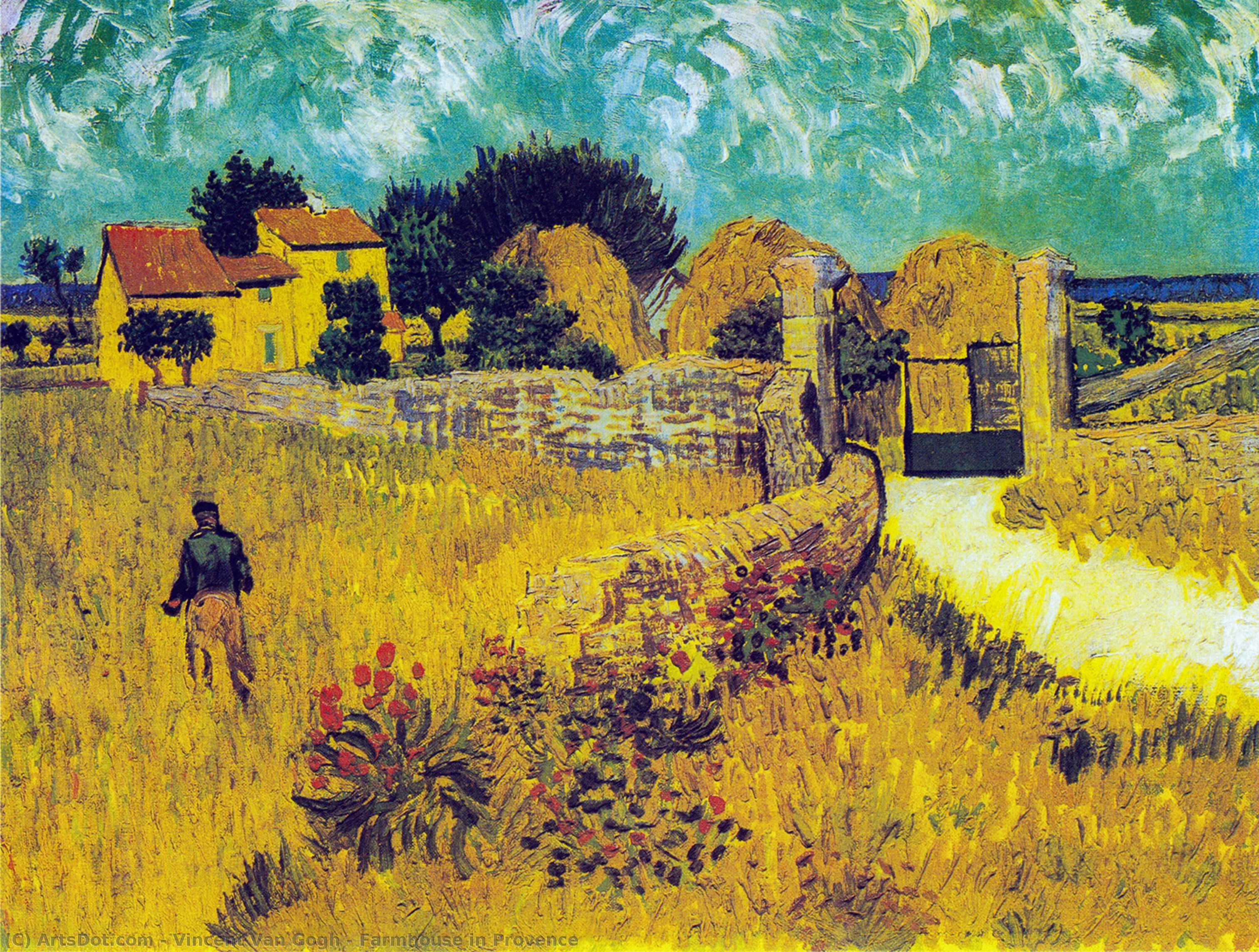 Farmhouse in Provence - Vincent Van Gogh