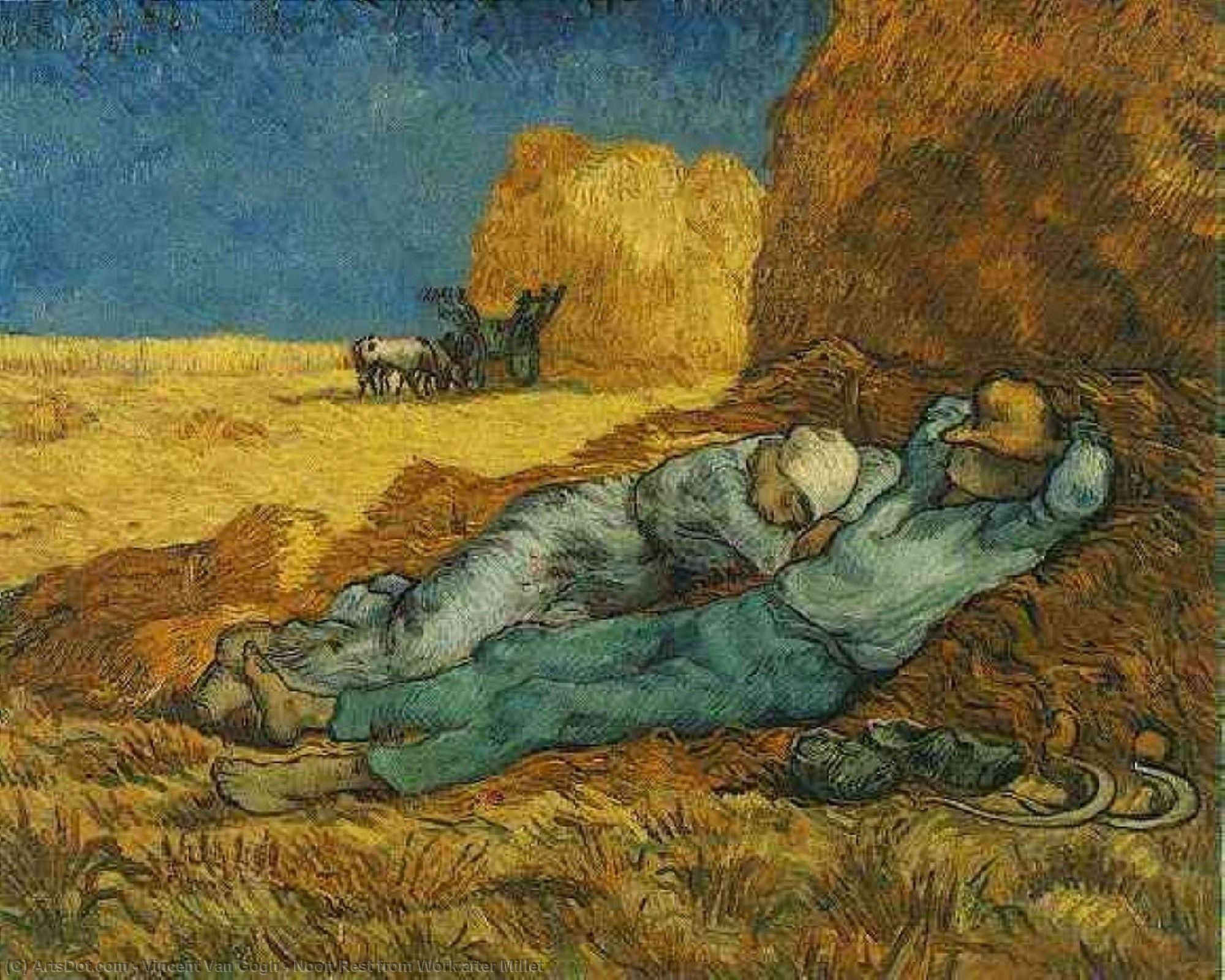 Noon Rest from Work after Millet - Vincent Van Gogh