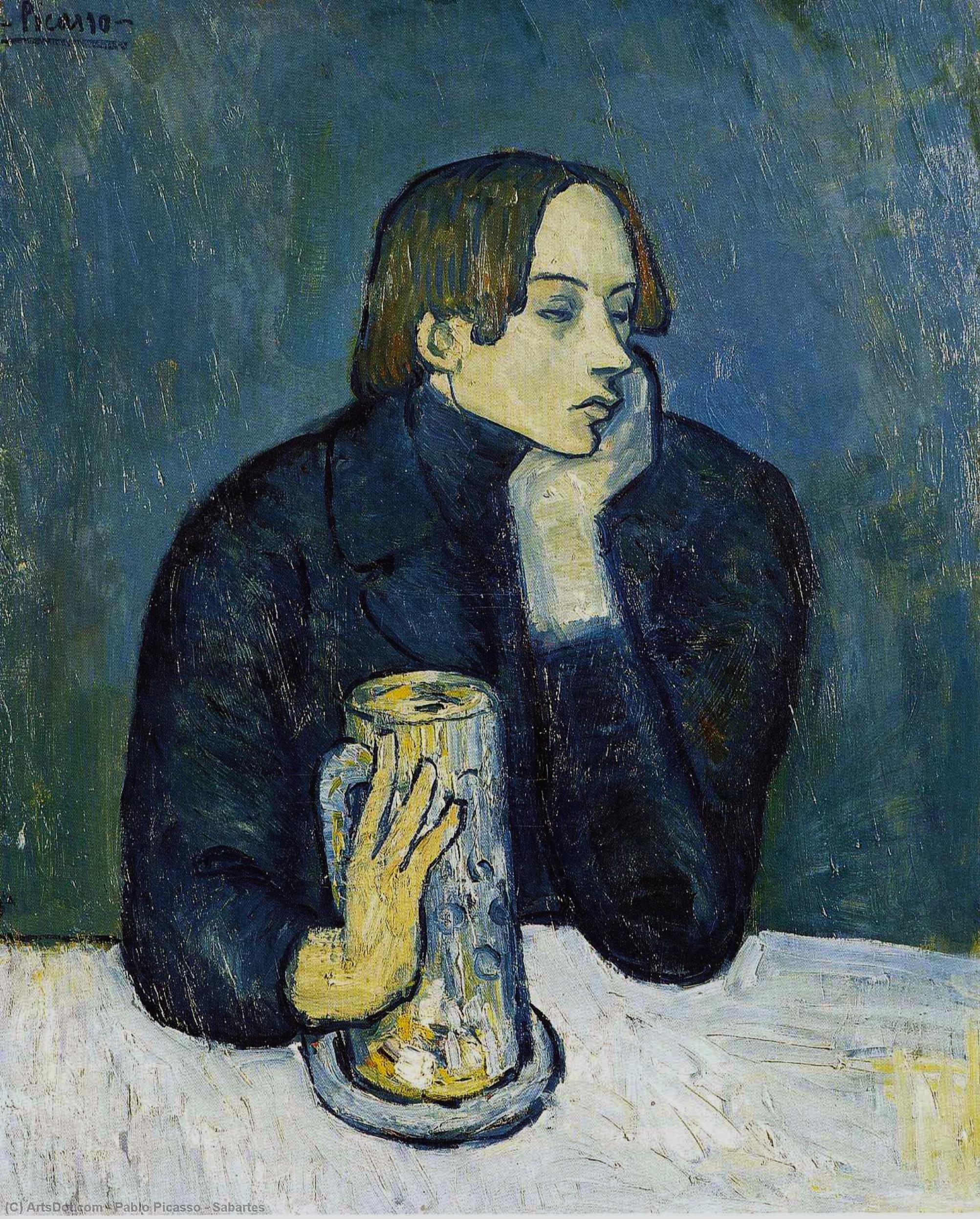 Wikioo.org - The Encyclopedia of Fine Arts - Painting, Artwork by Pablo Picasso - Sabartes