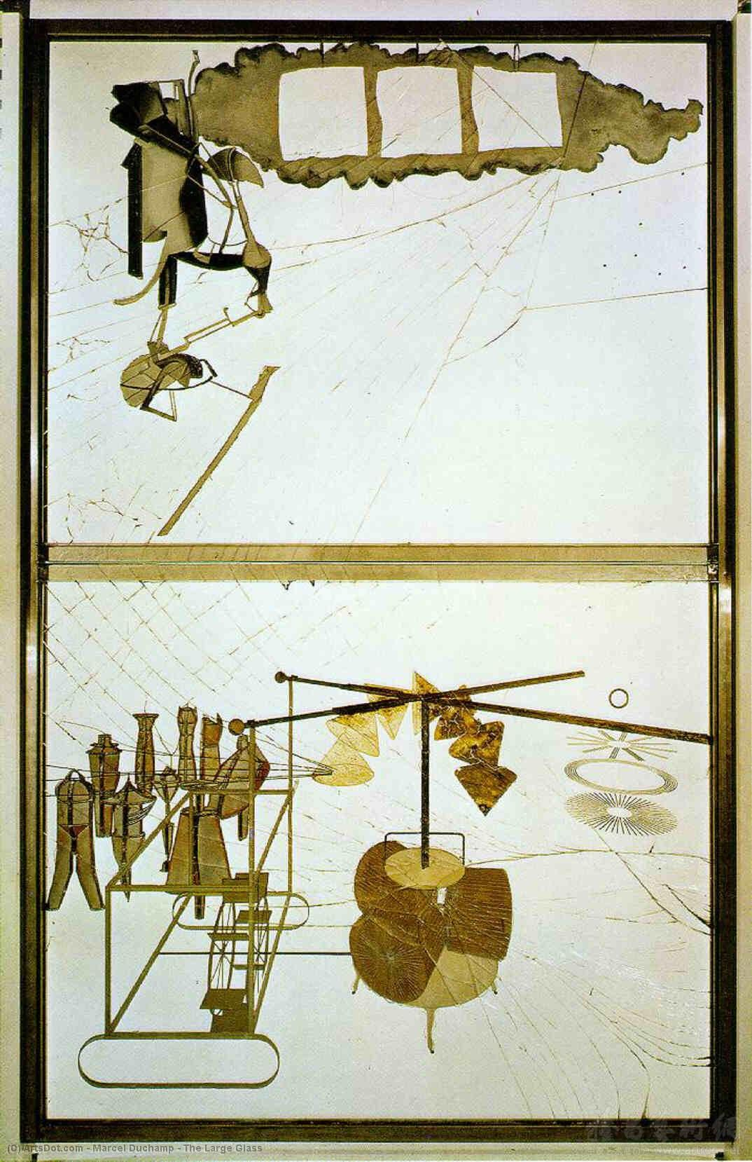 Wikioo.org - The Encyclopedia of Fine Arts - Painting, Artwork by Marcel Duchamp - The Large Glass