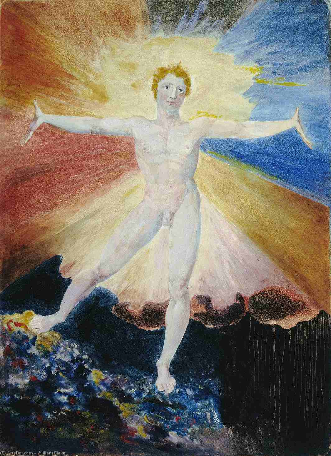 Wikioo.org - The Encyclopedia of Fine Arts - Painting, Artwork by William Blake - Glad Day