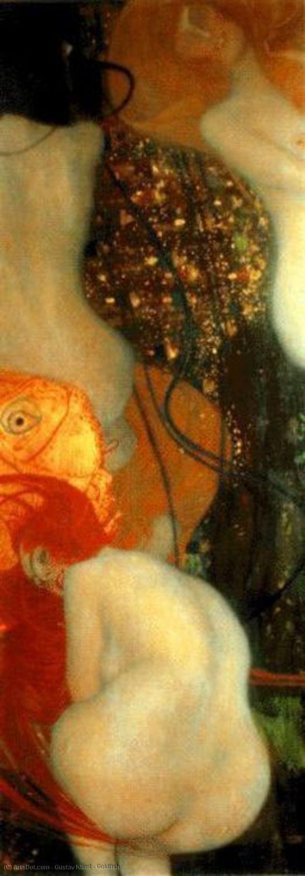Wikoo.org - موسوعة الفنون الجميلة - اللوحة، العمل الفني Gustav Klimt - Goldfish