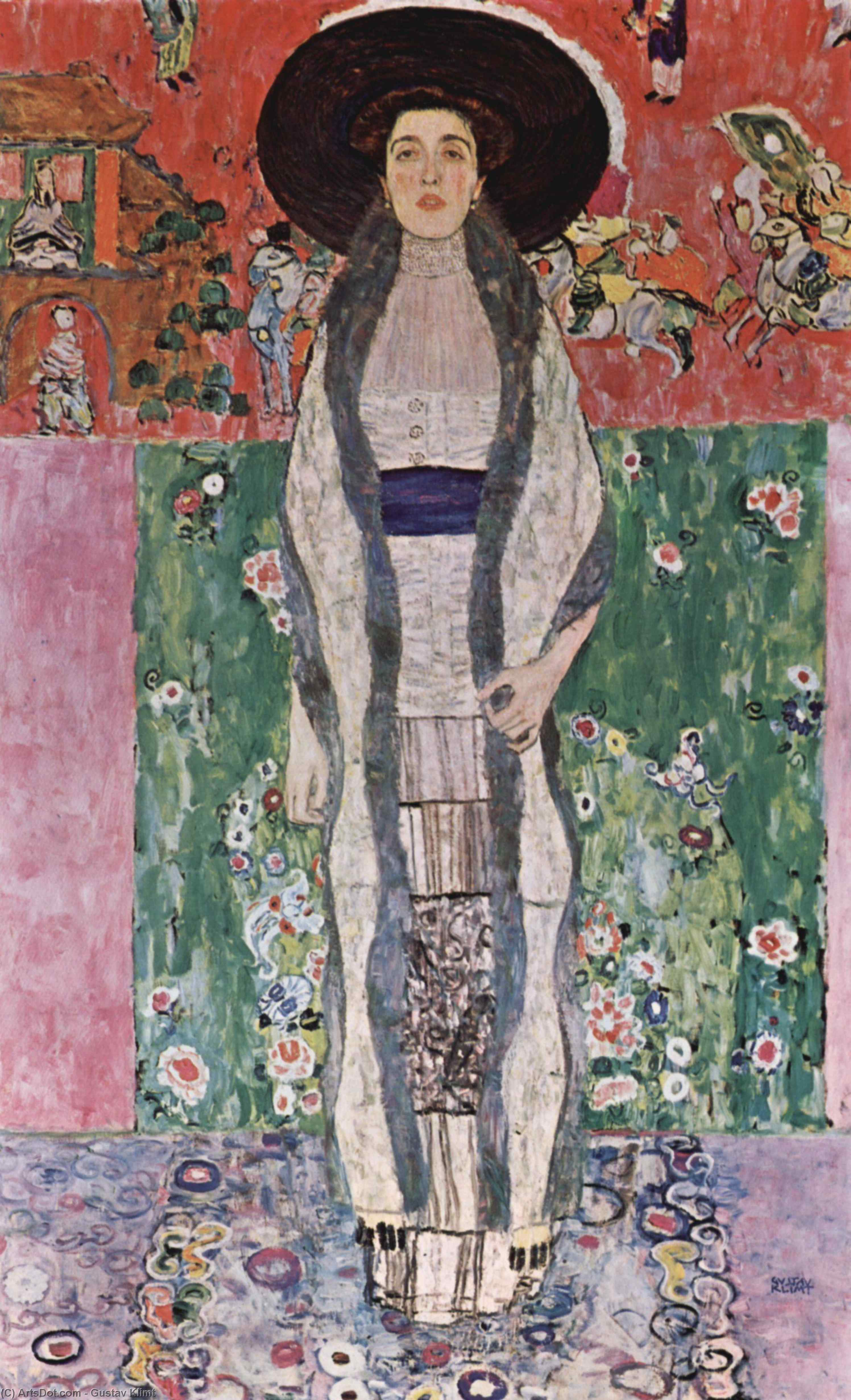 Wikioo.org - The Encyclopedia of Fine Arts - Painting, Artwork by Gustav Klimt - Portrait of Adele Bloch-Bauer II