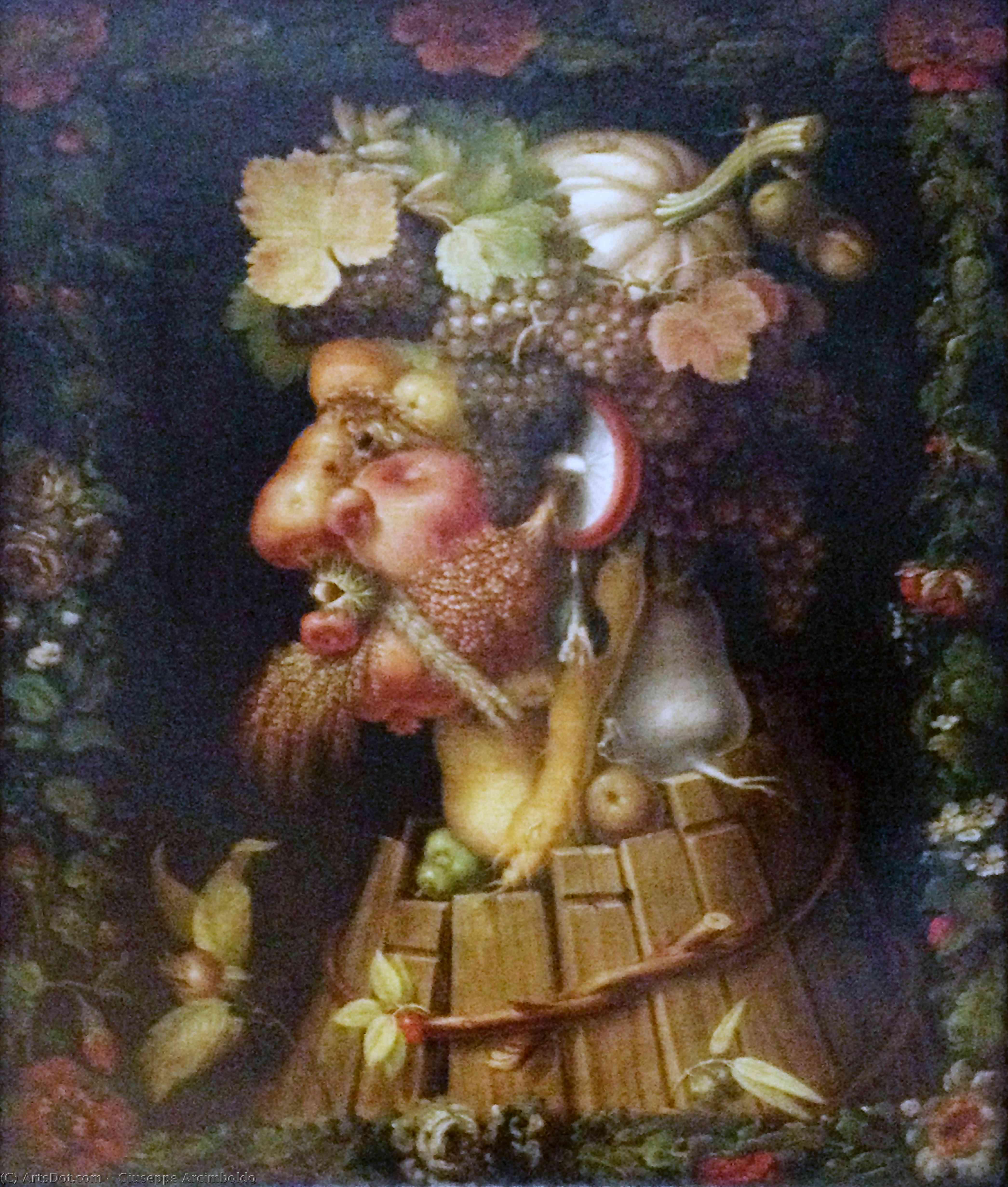 Wikioo.org - The Encyclopedia of Fine Arts - Painting, Artwork by Giuseppe Arcimboldo - Autumn