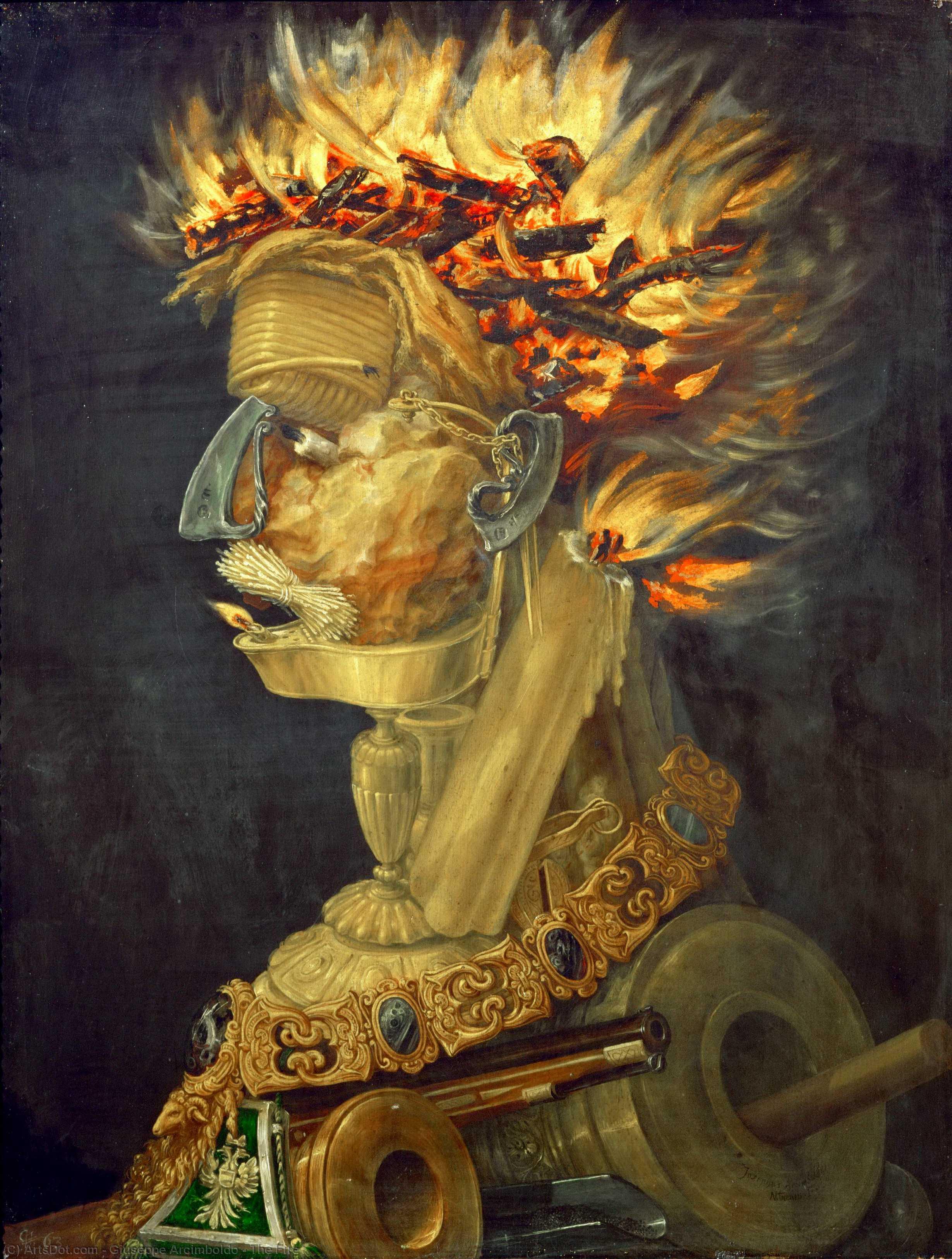 WikiOO.org - Encyclopedia of Fine Arts - Malba, Artwork Giuseppe Arcimboldo - The Fire