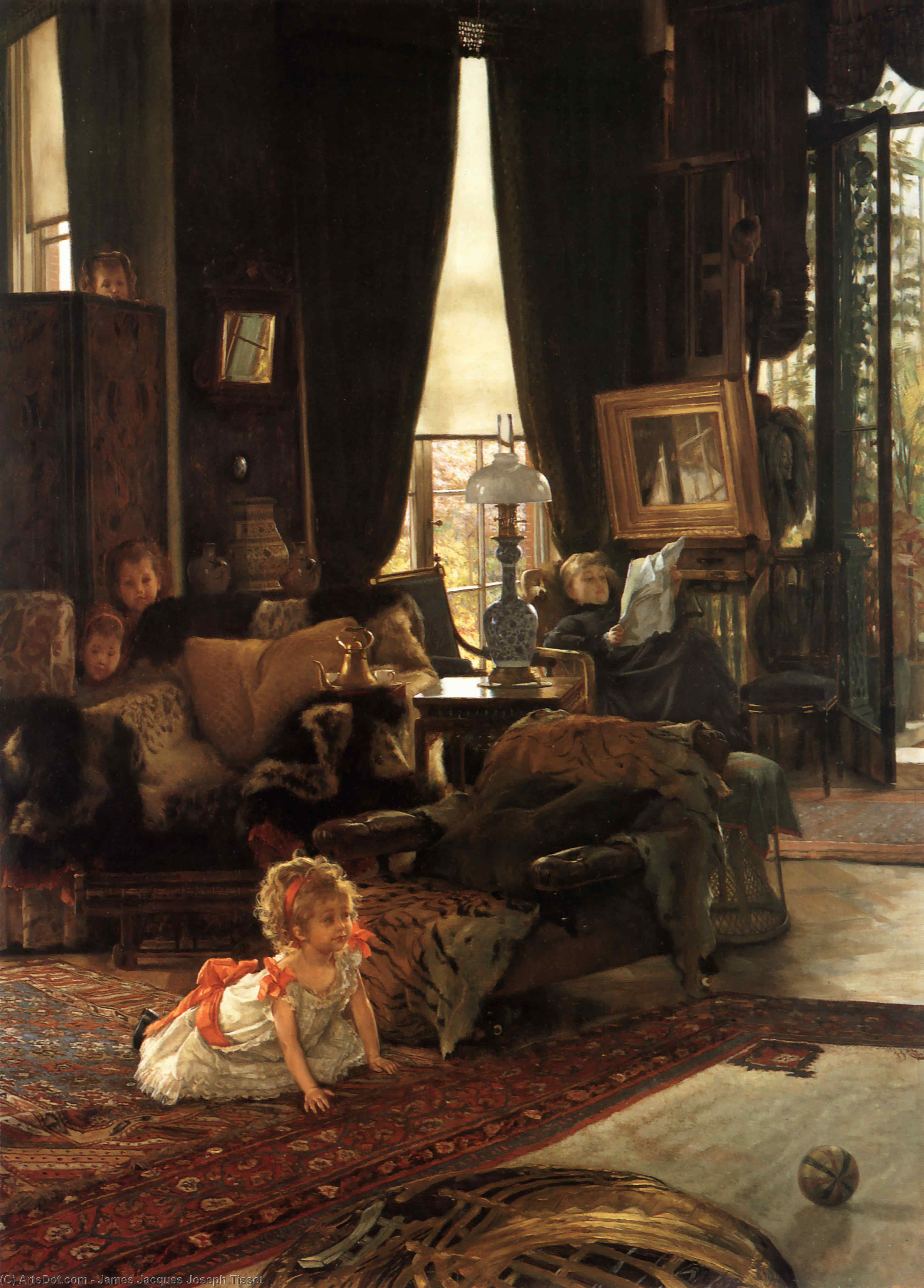 Wikioo.org - The Encyclopedia of Fine Arts - Painting, Artwork by James Jacques Joseph Tissot - Hide and Seek