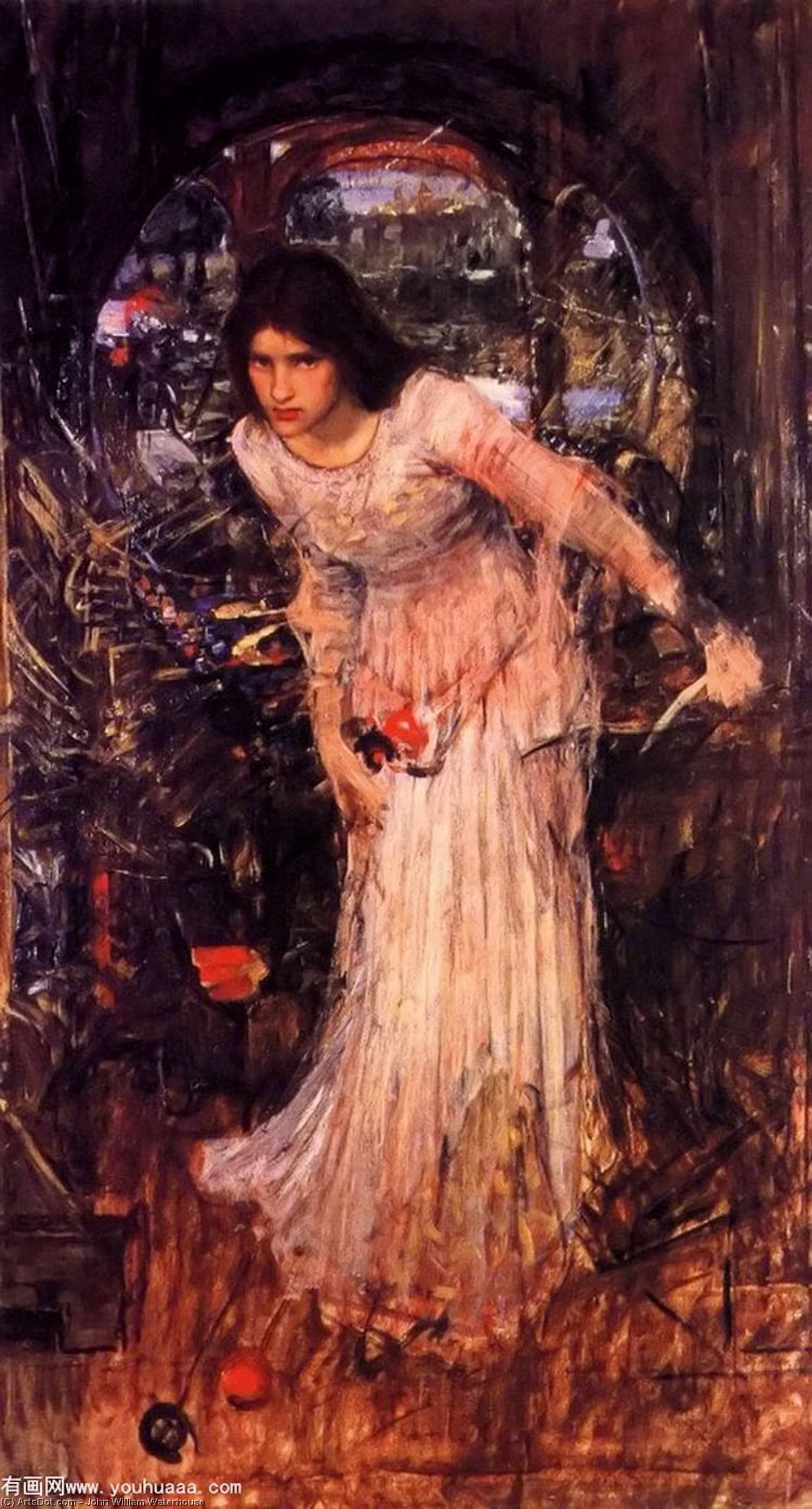 Wikioo.org - The Encyclopedia of Fine Arts - Painting, Artwork by John William Waterhouse - The lady of shalott study