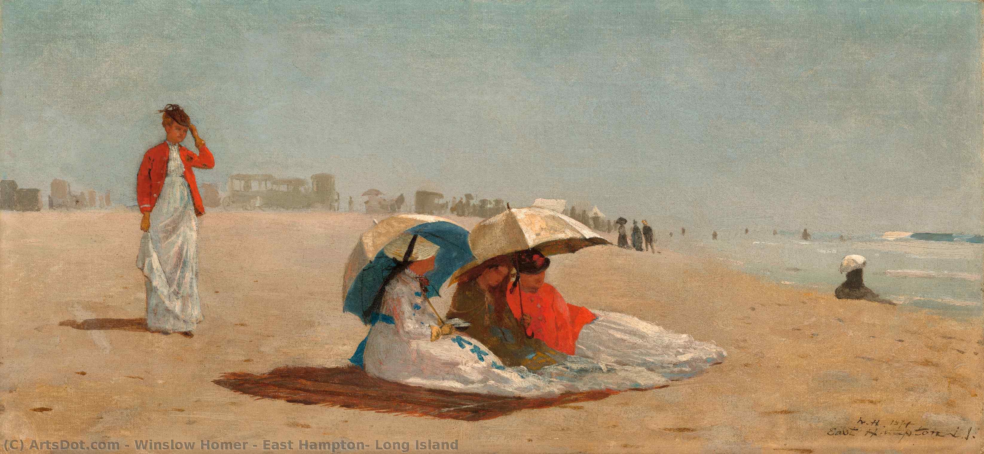 Wikioo.org – La Enciclopedia de las Bellas Artes - Pintura, Obras de arte de Winslow Homer - hampton east largos  Isla