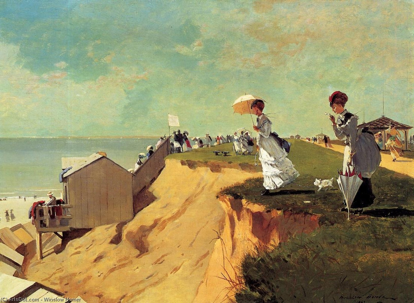 Wikioo.org - The Encyclopedia of Fine Arts - Painting, Artwork by Winslow Homer - Long Branch, New Jersey