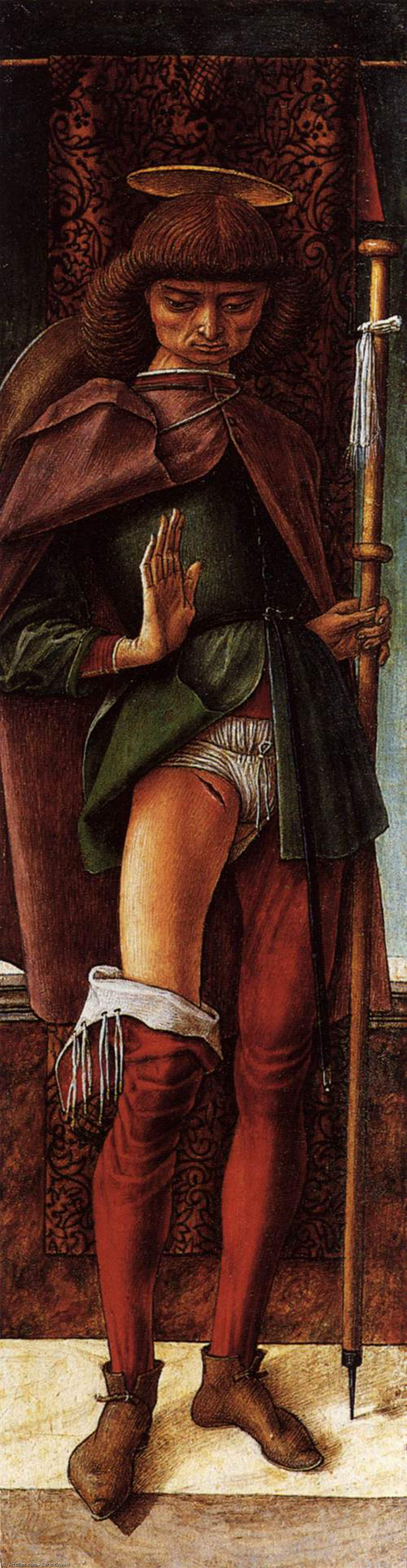 Wikioo.org - The Encyclopedia of Fine Arts - Painting, Artwork by Carlo Crivelli - St Roch