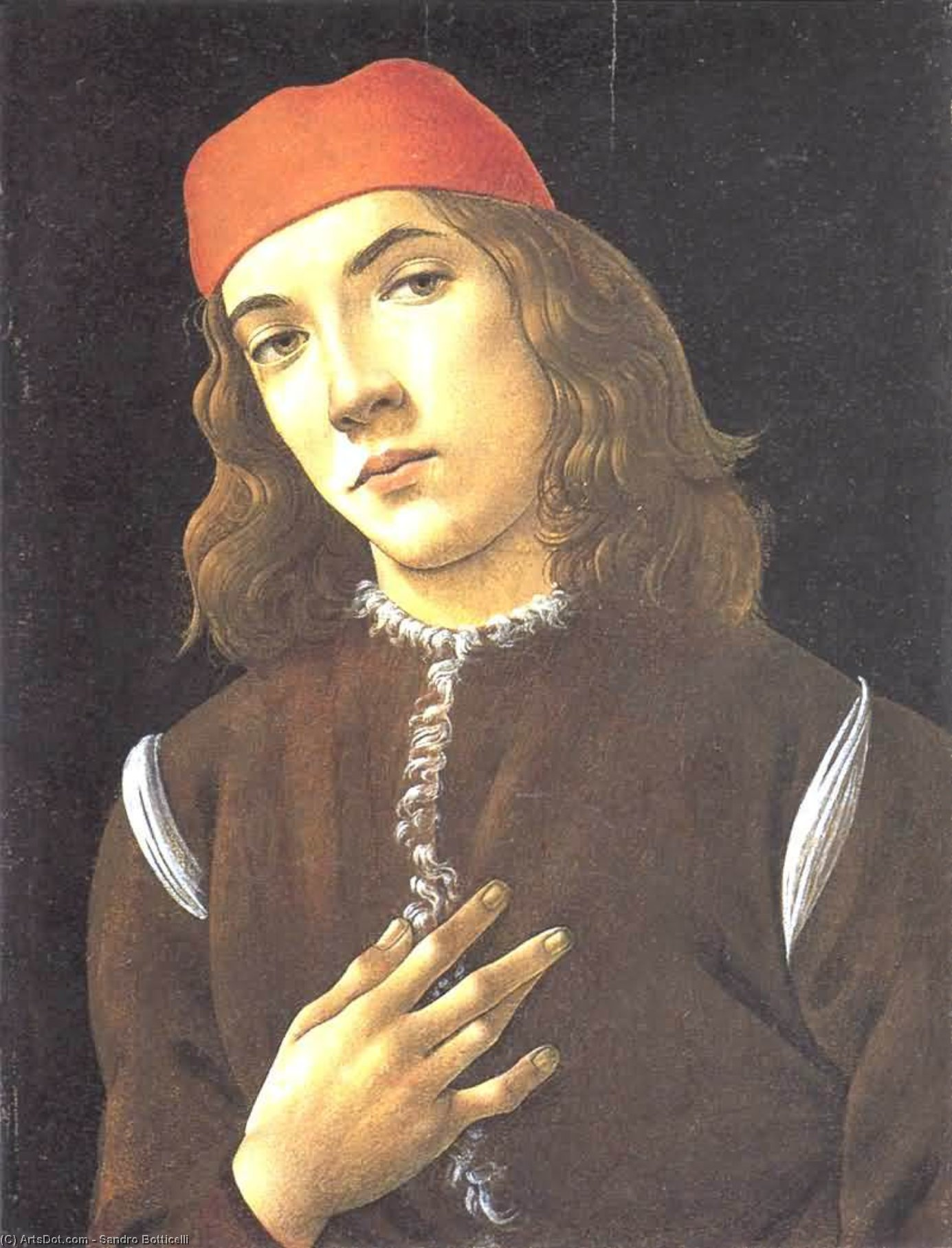 an analysis of the portrait of a young man in s red cap