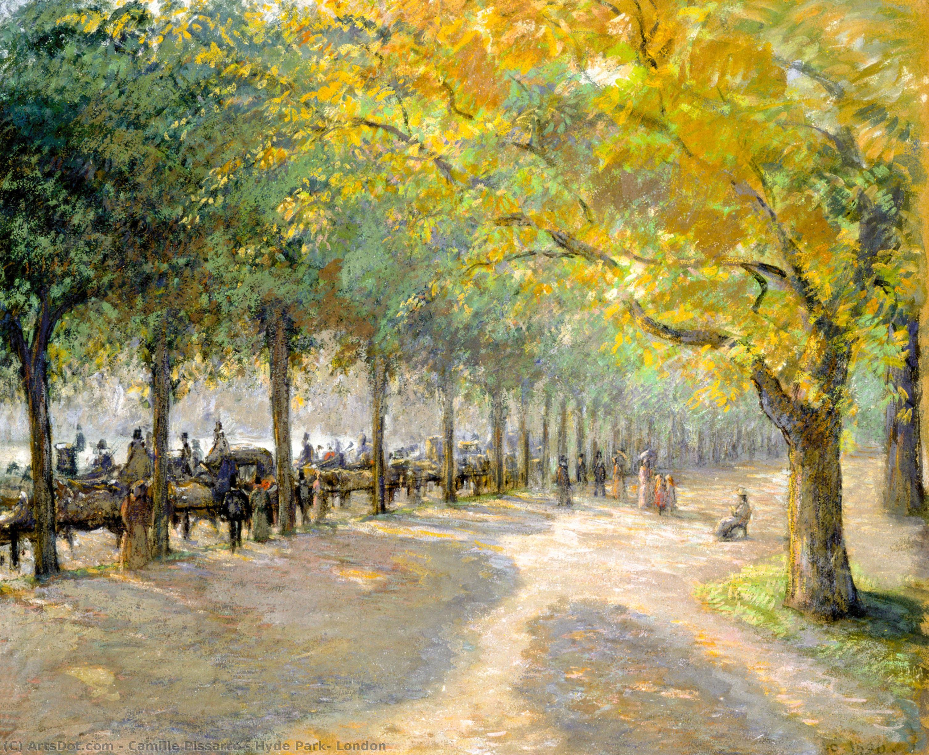 Wikioo.org - Die Enzyklopädie bildender Kunst - Malerei, Kunstwerk von Camille Pissarro - Hyde Park entfernt , London untergebracht