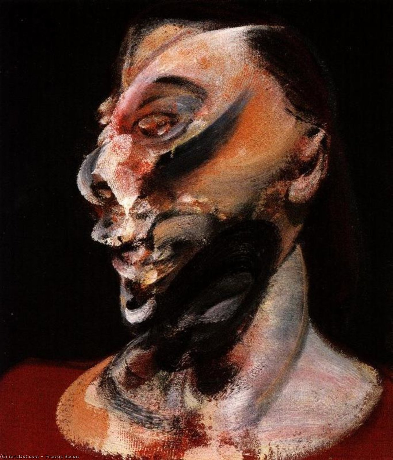 Wikioo.org - The Encyclopedia of Fine Arts - Painting, Artwork by Francis Bacon - Three Studies of Muriel Belcher