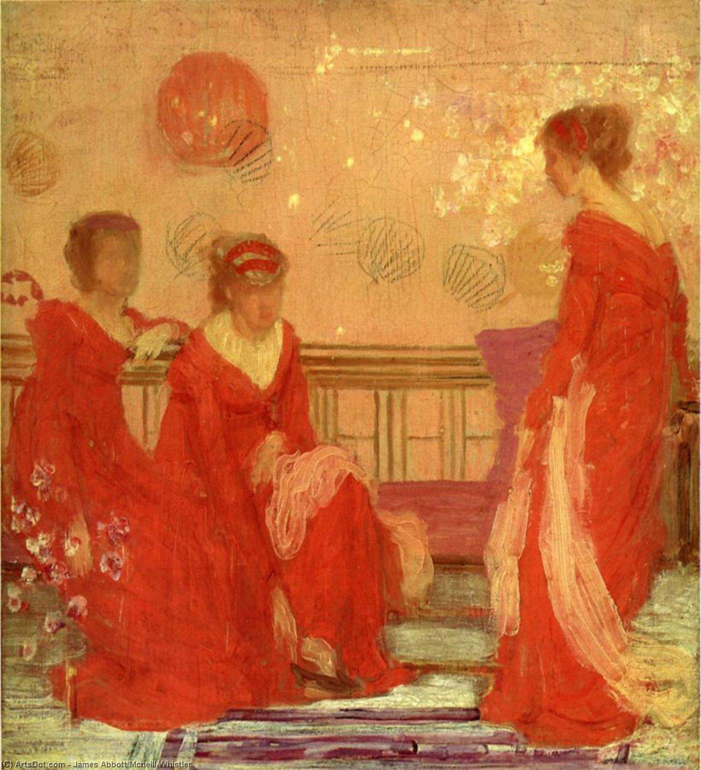 WikiOO.org - Энциклопедия изобразительного искусства - Живопись, Картины  James Abbott Mcneill Whistler - Гармония в плоть  Цвет  а также  Красную