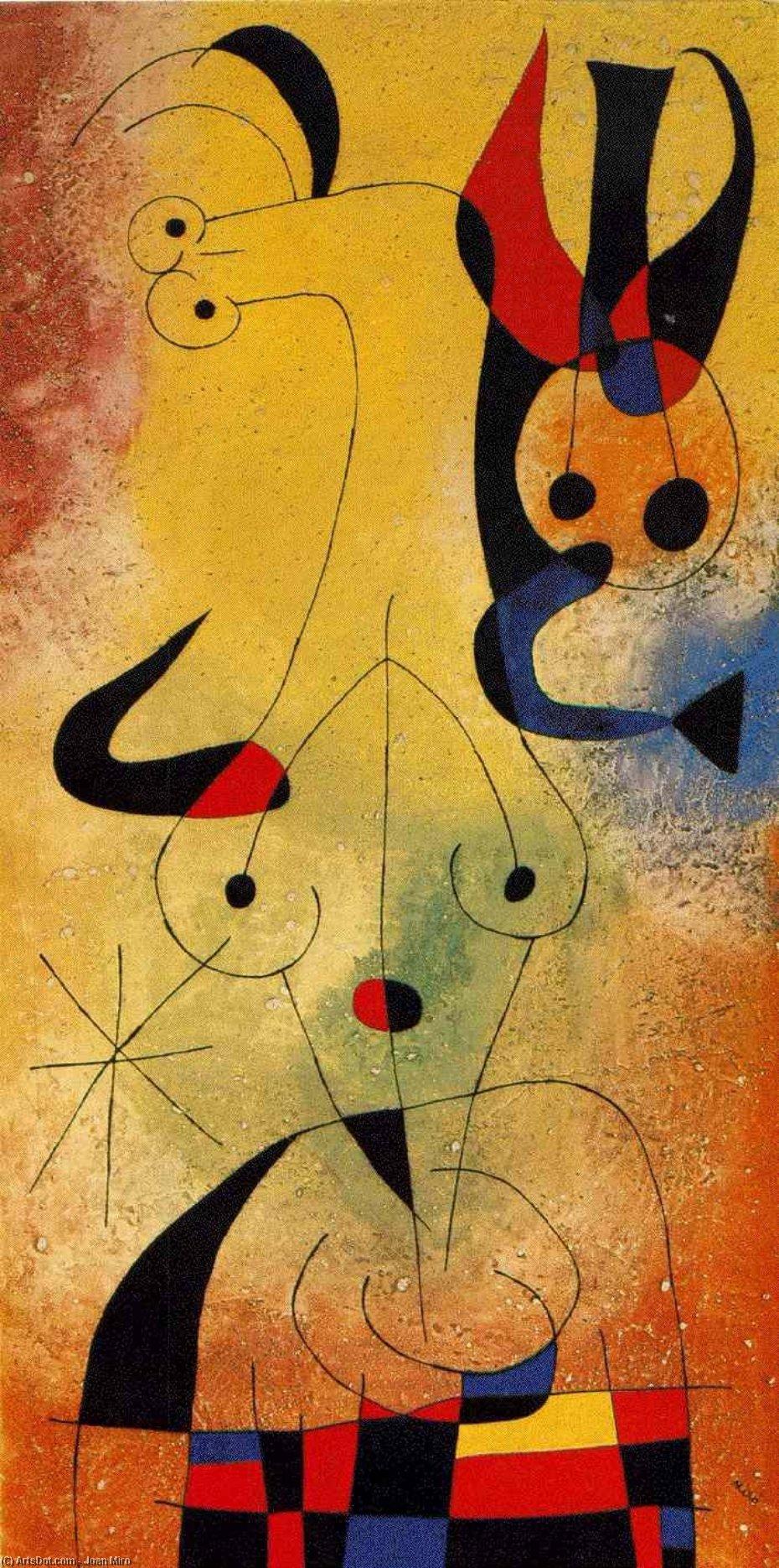 Wikioo.org - The Encyclopedia of Fine Arts - Painting, Artwork by Joan Miro - Amanecer perfumado por una ducha de oro