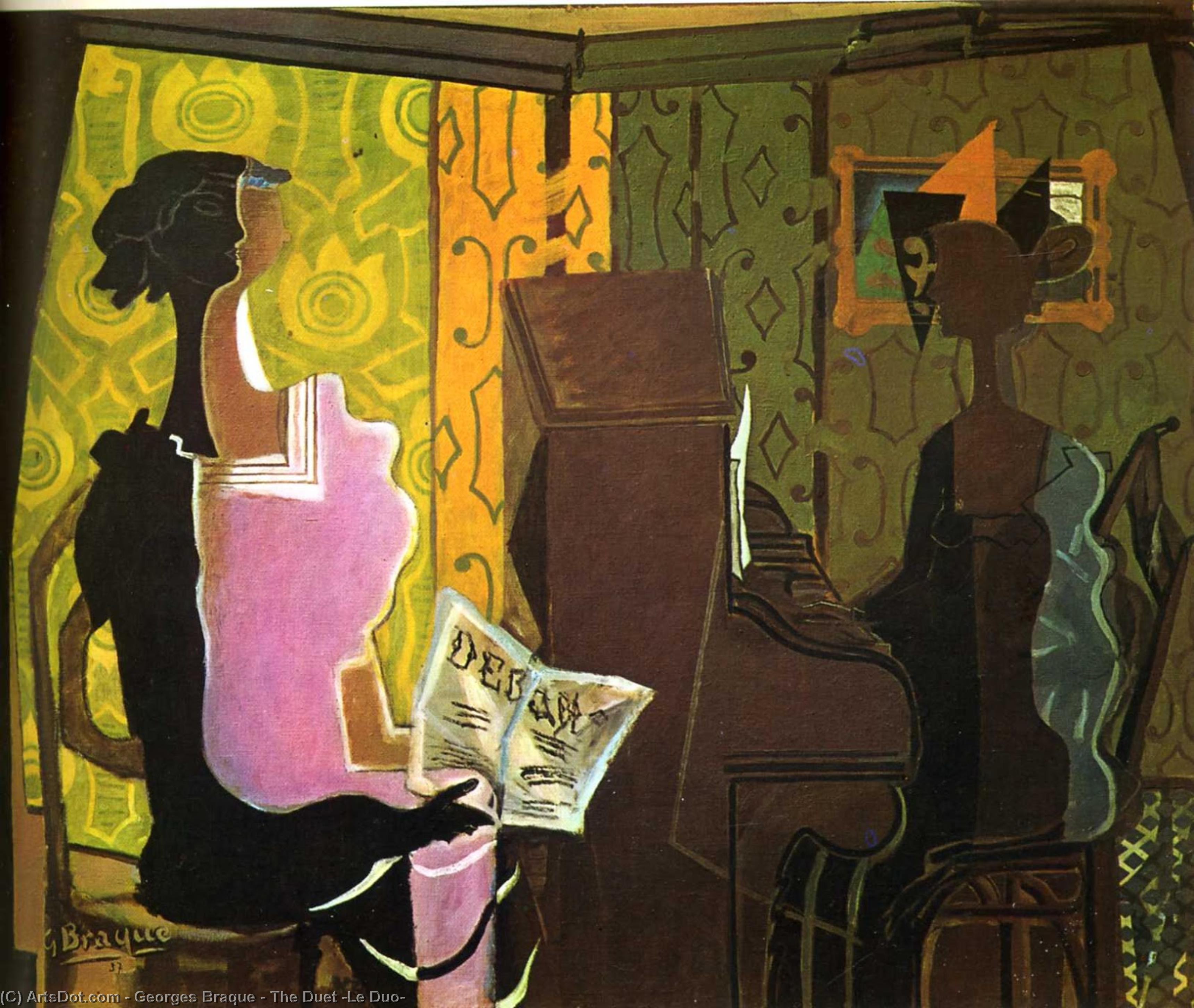 Wikioo.org - The Encyclopedia of Fine Arts - Painting, Artwork by Georges Braque - The Duet (Le Duo)