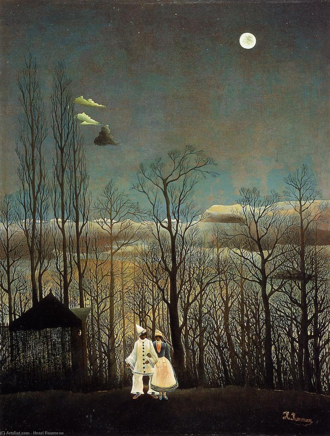 Wikioo.org - The Encyclopedia of Fine Arts - Painting, Artwork by Henri Emilien Rousseau - A Carnival Evening