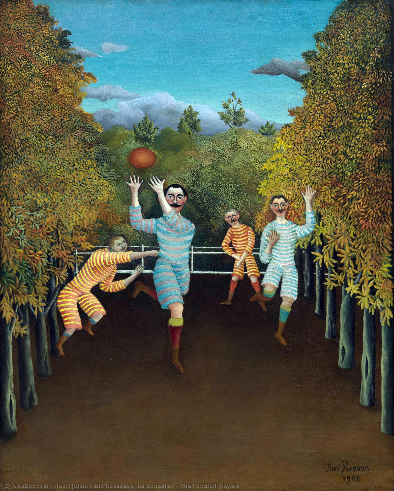 Wikioo.org - The Encyclopedia of Fine Arts - Painting, Artwork by Henri Julien Félix Rousseau (Le Douanier) - The Football players