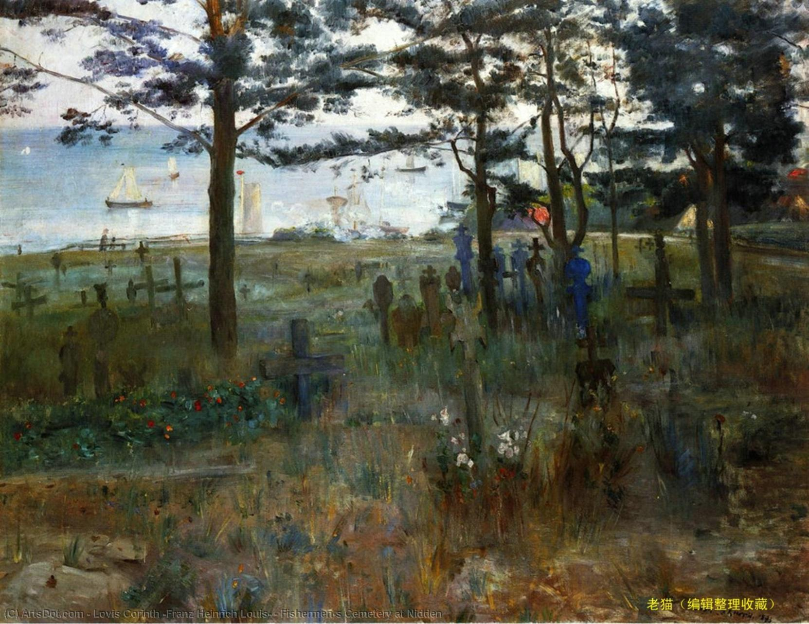 Wikioo.org - The Encyclopedia of Fine Arts - Painting, Artwork by Lovis Corinth (Franz Heinrich Louis) - Fishermen's Cemetery at Nidden