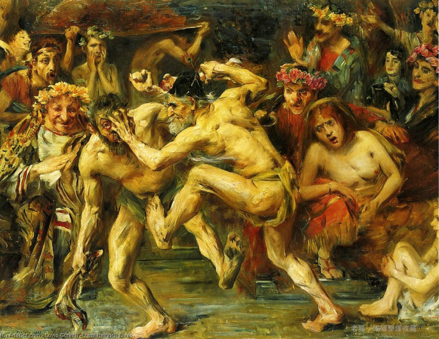 Wikioo.org - The Encyclopedia of Fine Arts - Painting, Artwork by Lovis Corinth (Franz Heinrich Louis) - Odysseus Fighting with the Beggar