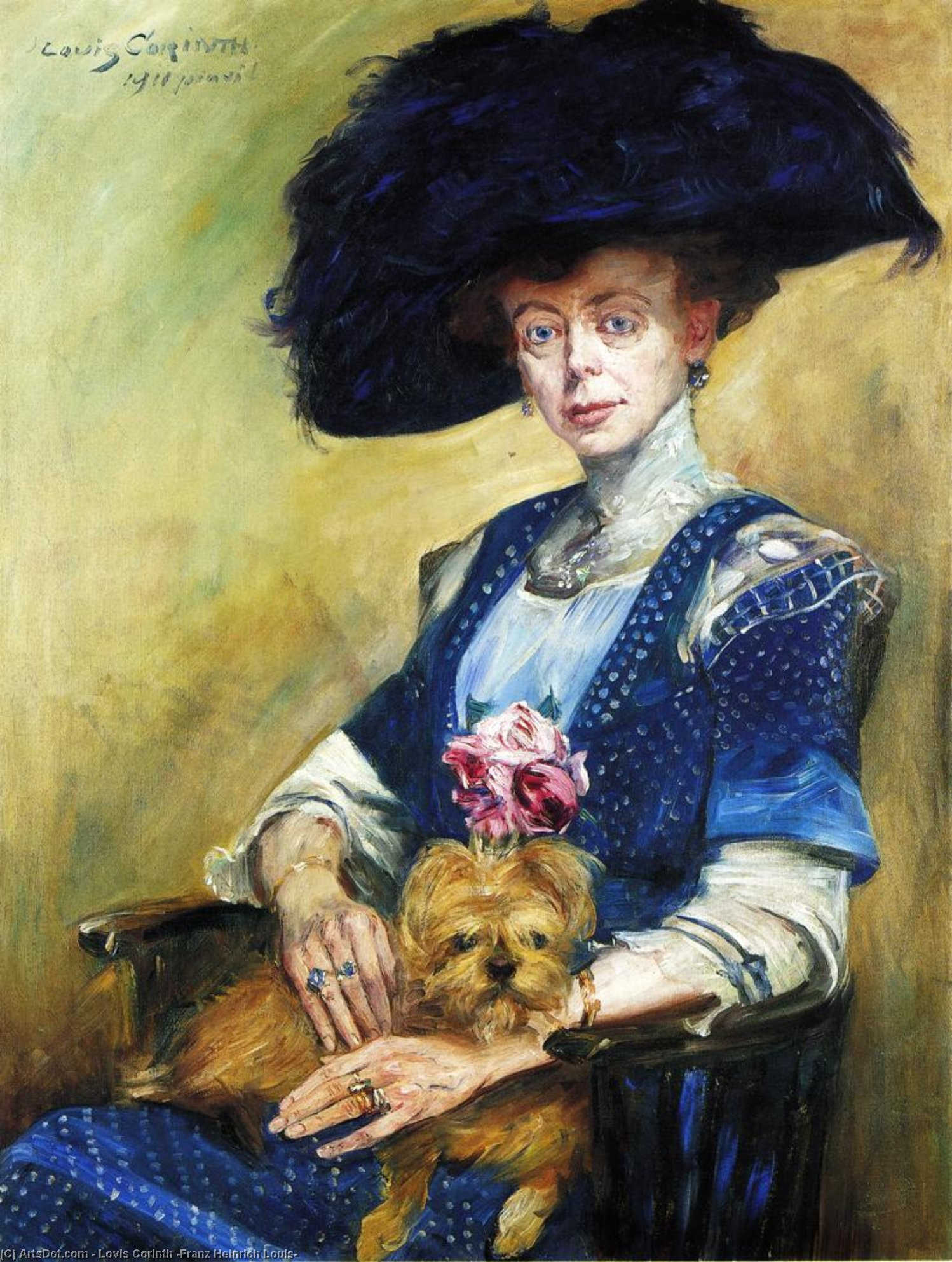 Wikioo.org - The Encyclopedia of Fine Arts - Painting, Artwork by Lovis Corinth (Franz Heinrich Louis) - Portrait of Frau Luther