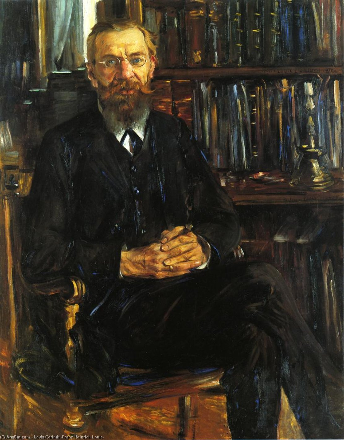 Wikioo.org - The Encyclopedia of Fine Arts - Painting, Artwork by Lovis Corinth (Franz Heinrich Louis) - Portrait of Professor Eduard Meyer