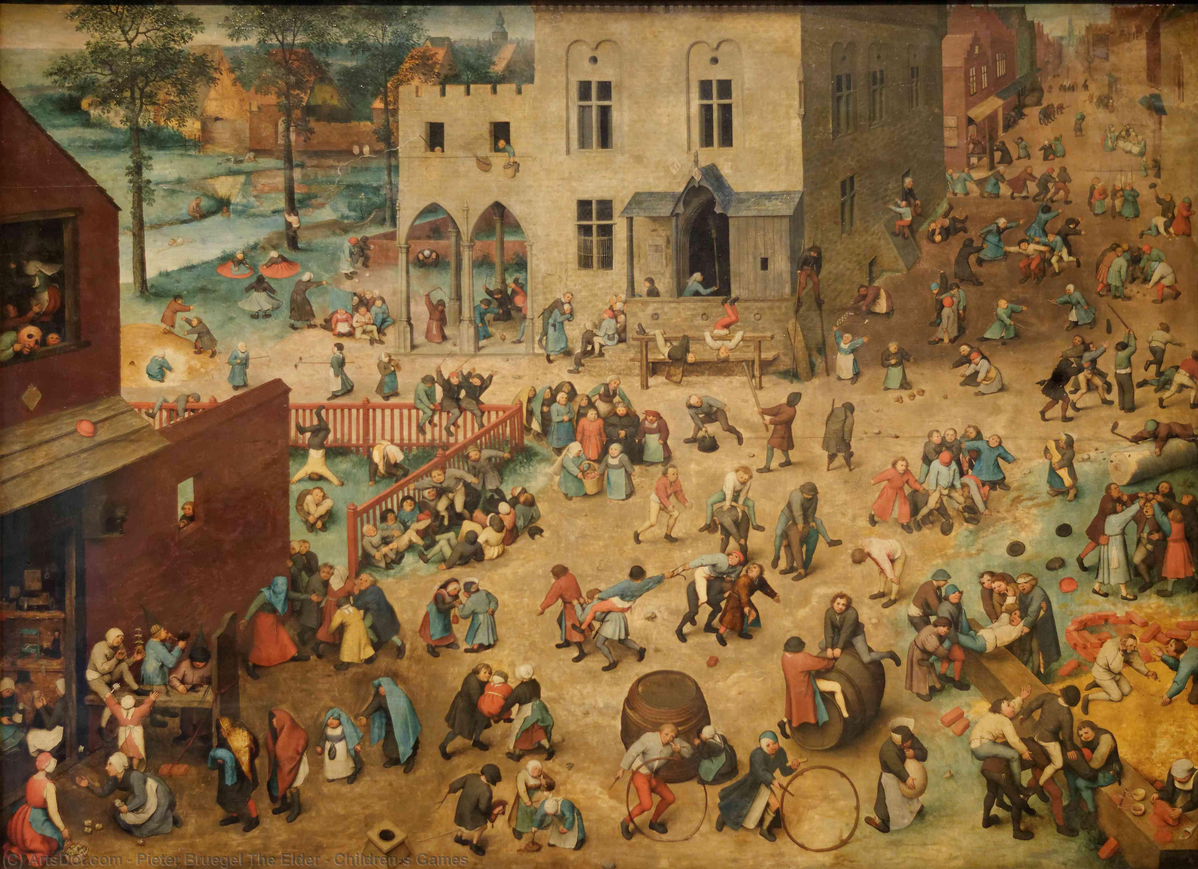 Wikioo.org - The Encyclopedia of Fine Arts - Painting, Artwork by Pieter Bruegel The Elder - Children's Games