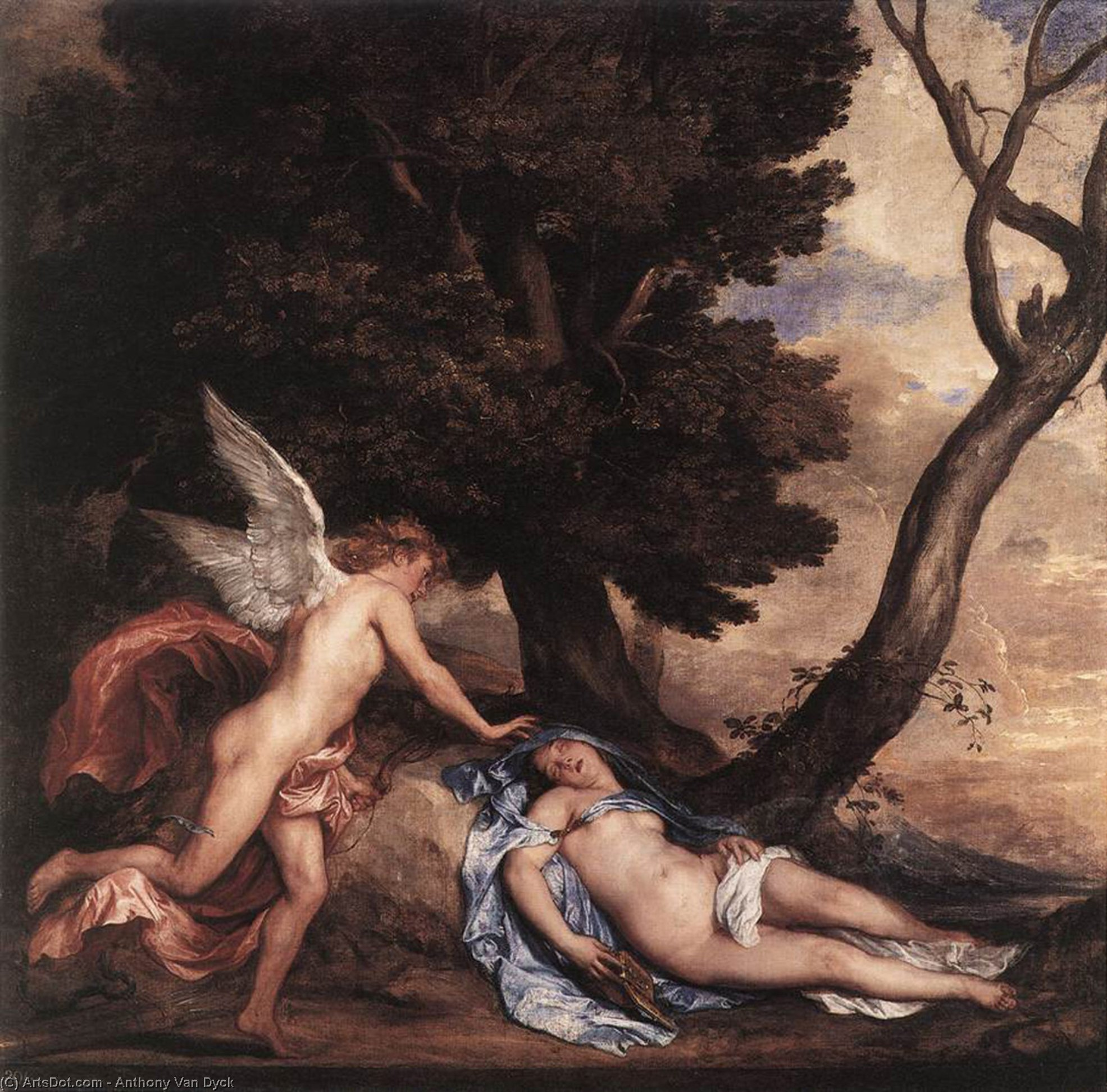 Wikioo.org - The Encyclopedia of Fine Arts - Painting, Artwork by Anthony Van Dyck - Cupid and Psyche