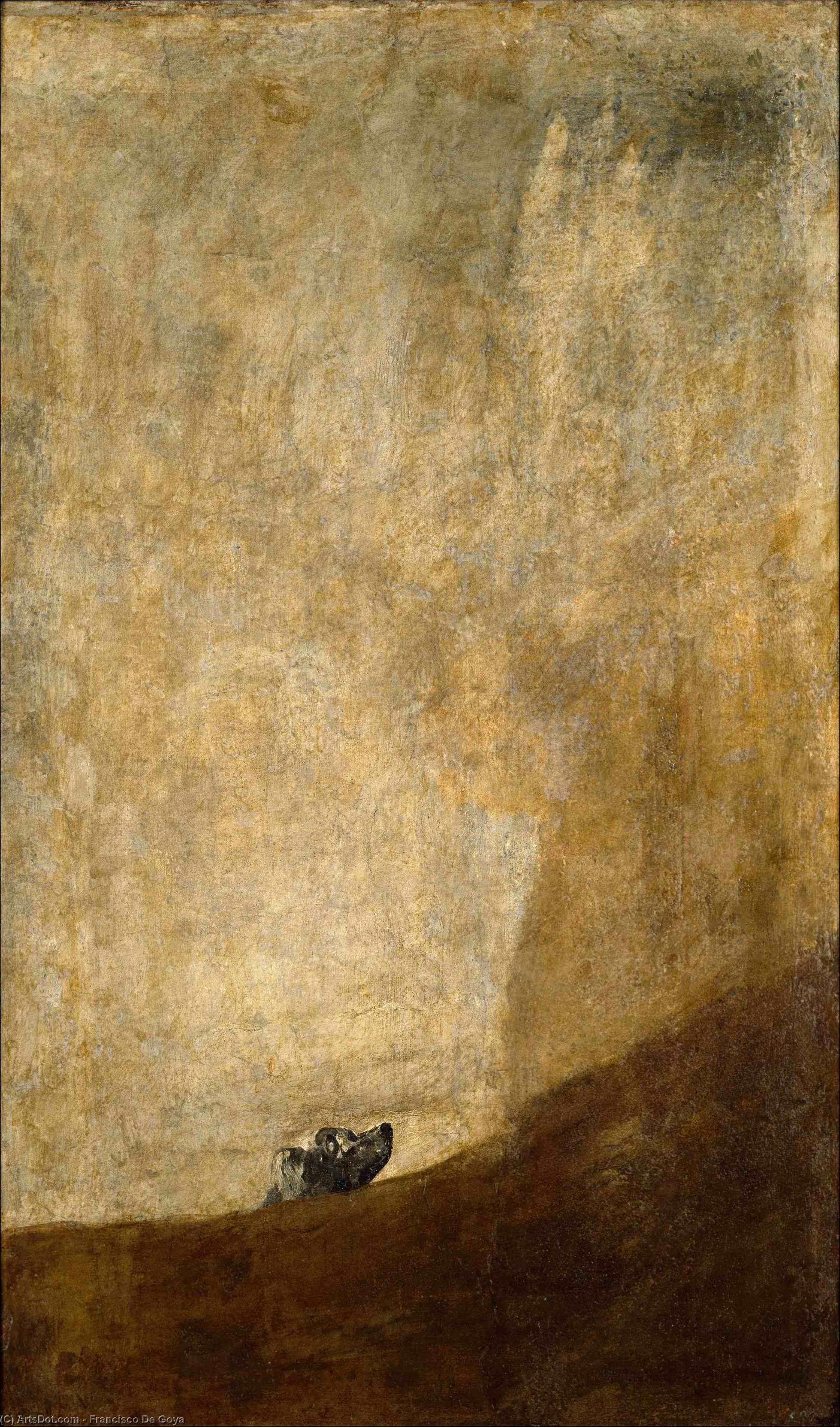 Wikioo.org - The Encyclopedia of Fine Arts - Painting, Artwork by Francisco De Goya - Dog