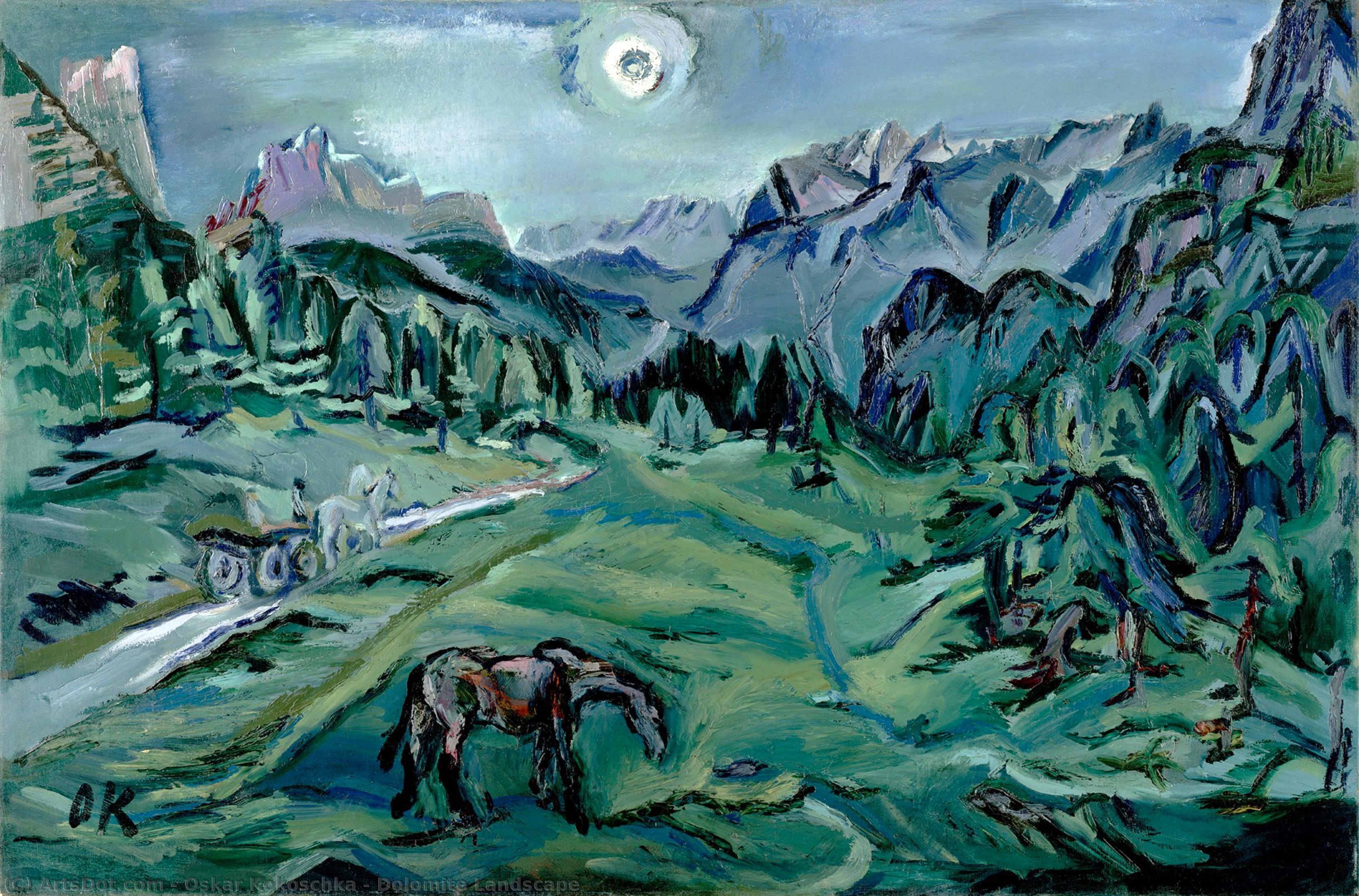 Dolomite Landscape - Oskar Kokoschka