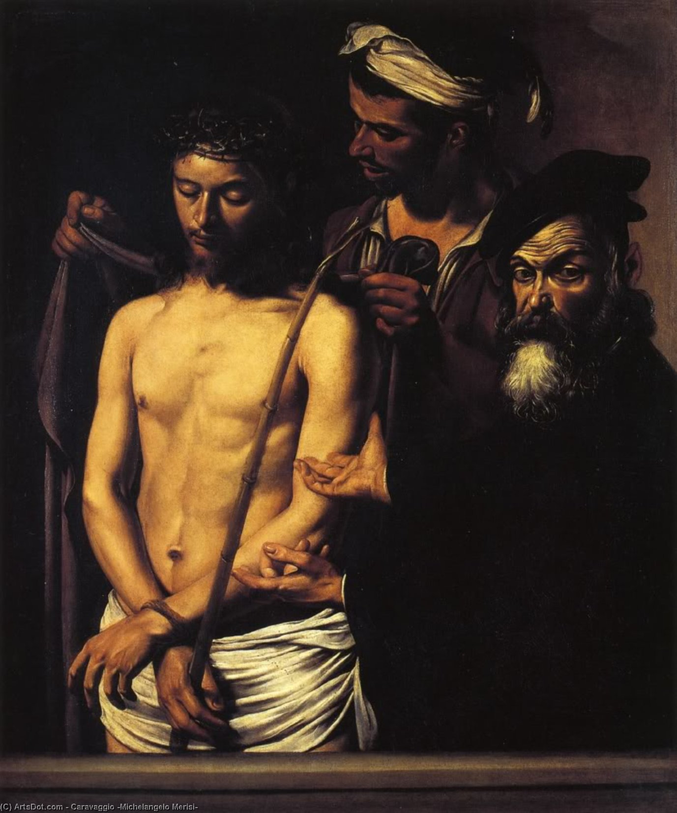 Wikioo.org - The Encyclopedia of Fine Arts - Painting, Artwork by Caravaggio (Michelangelo Merisi) - Ecce Homo