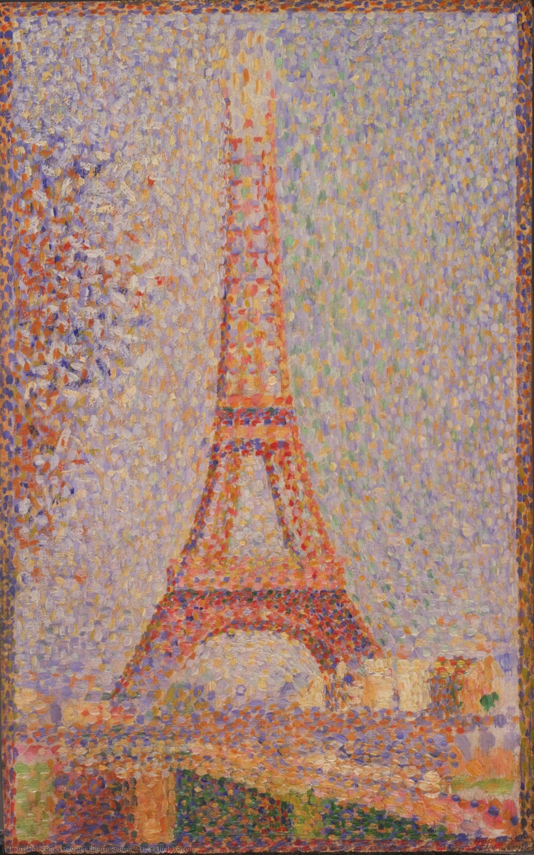 Wikioo.org - The Encyclopedia of Fine Arts - Painting, Artwork by Georges Pierre Seurat - The Eiffel Tower